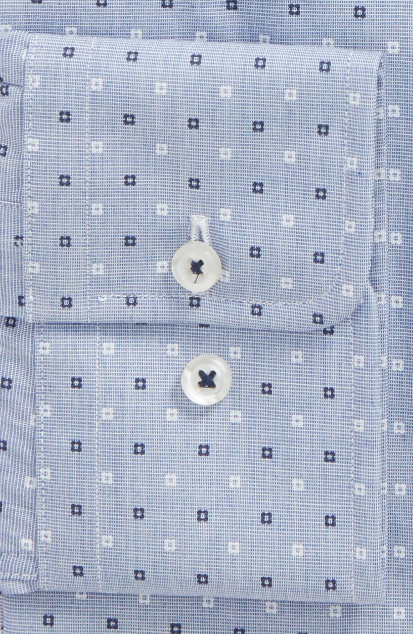 Slim Fit Dot Dress Shirt,                             Alternate thumbnail 2, color,                             Blue