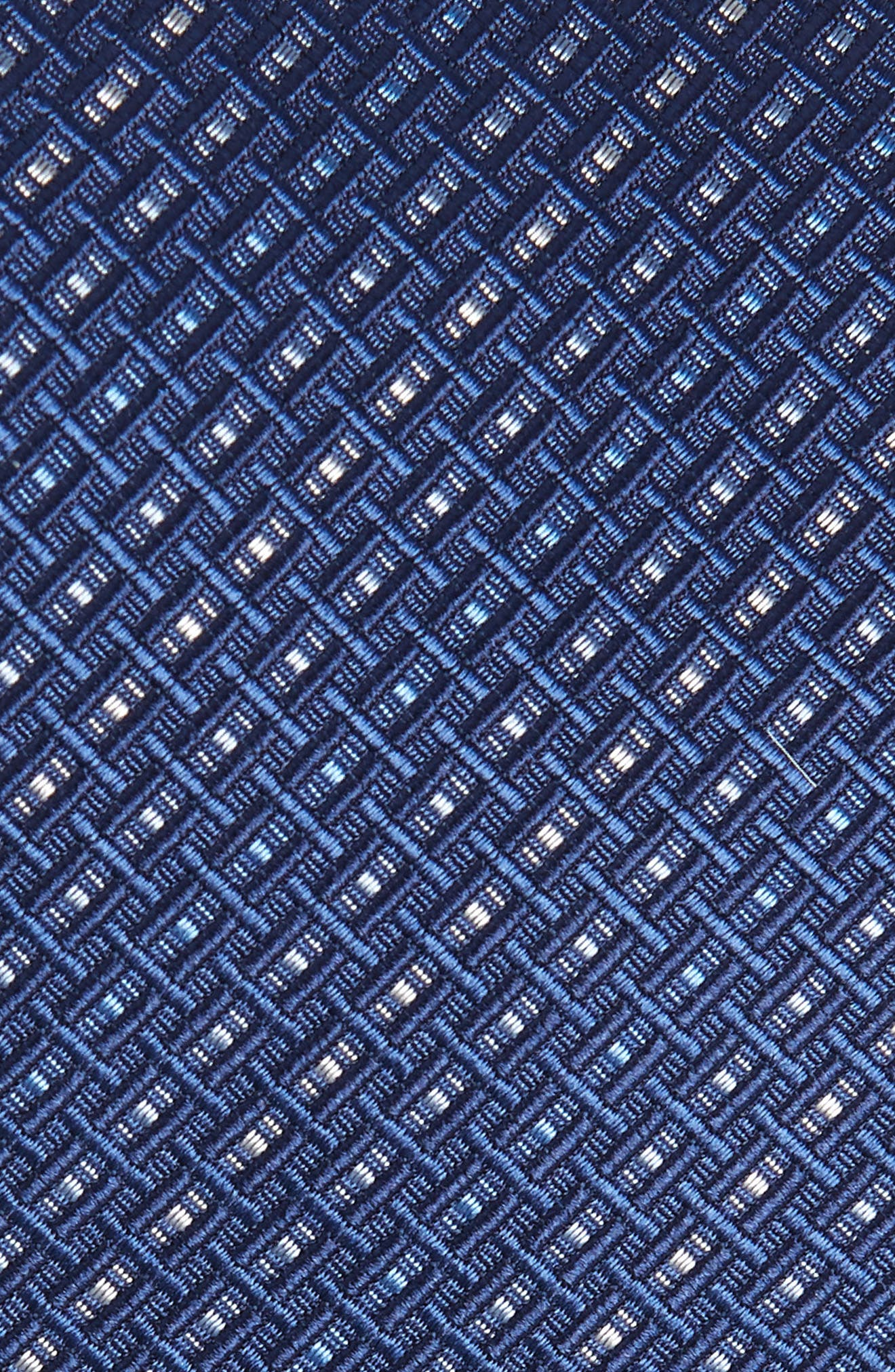 Este Solid Silk & Cotton Tie,                             Alternate thumbnail 2, color,                             Blue