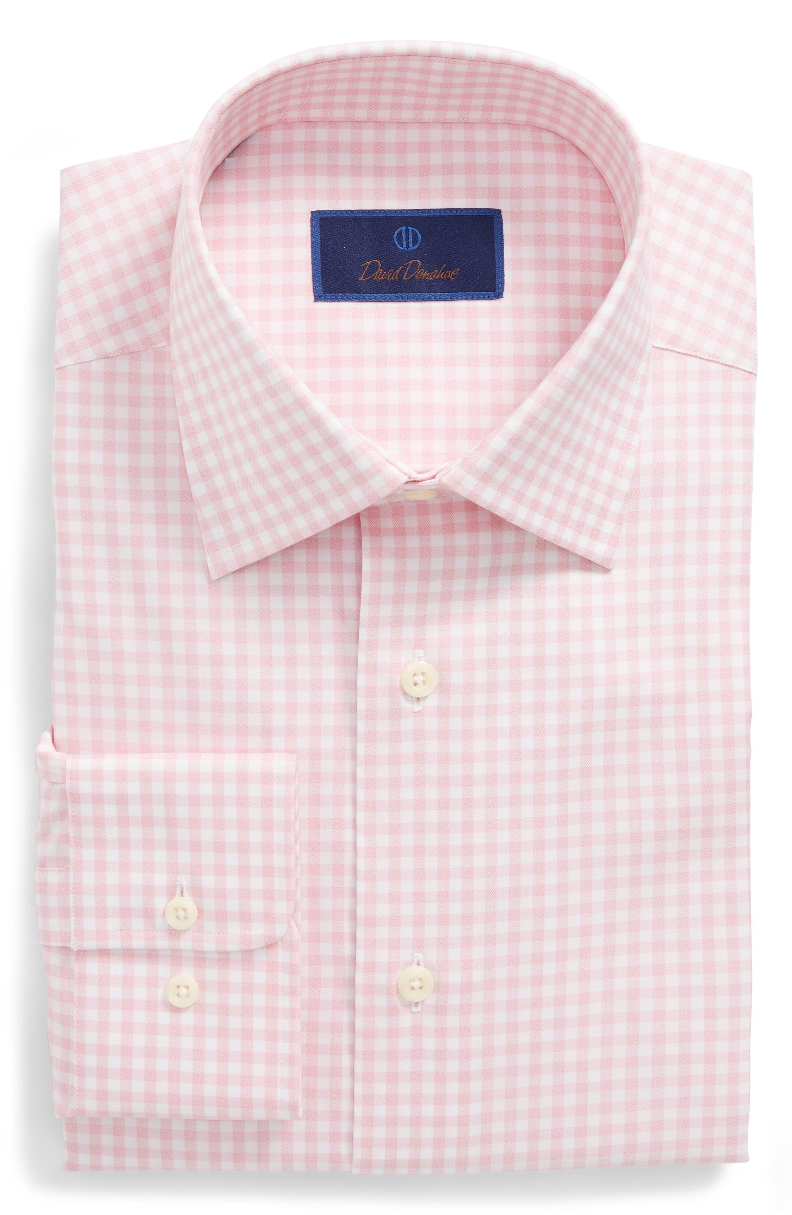Regular Fit Check Dress Shirt,                             Main thumbnail 1, color,                             Pink