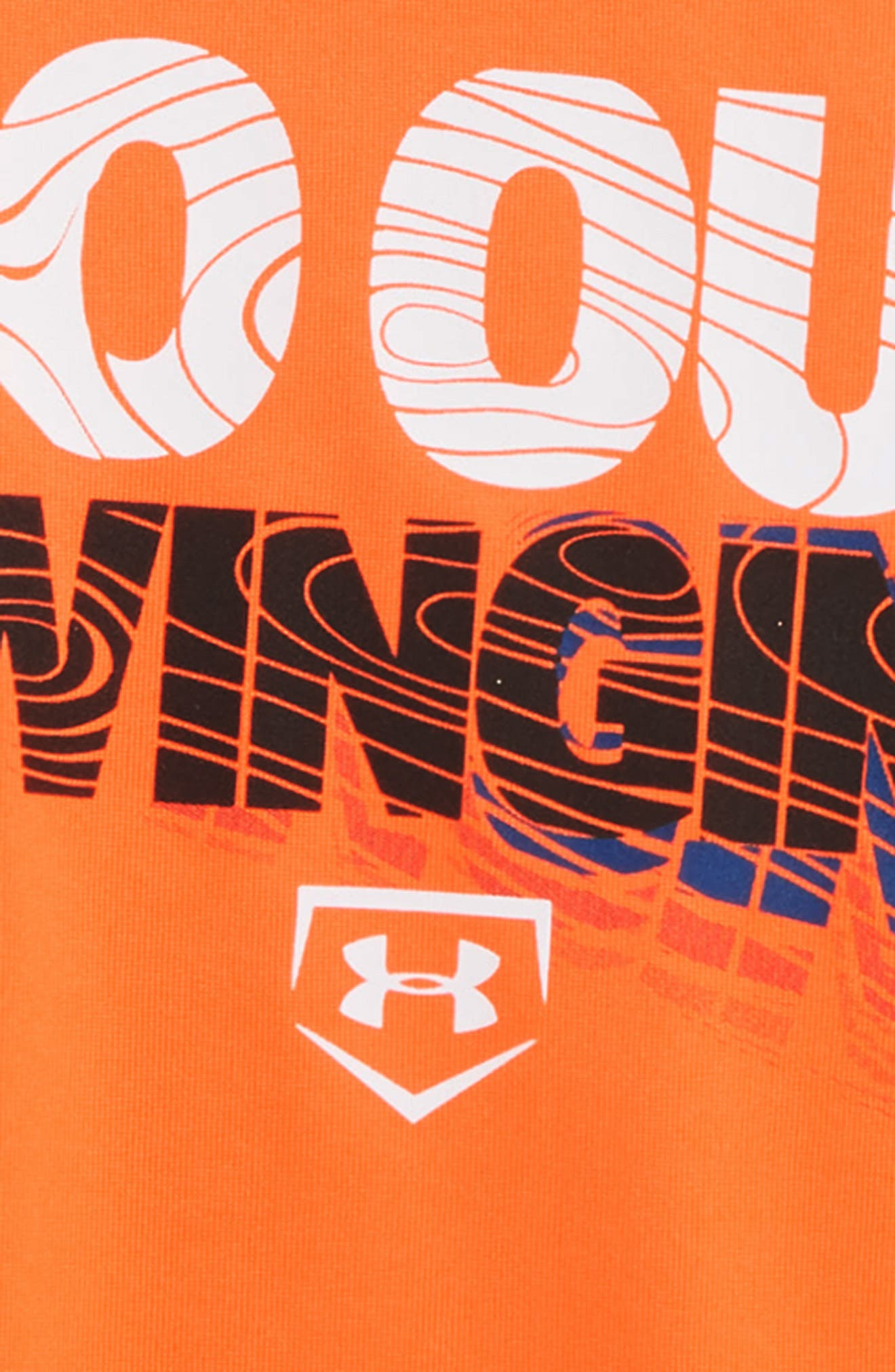 Go Out Swinging HeatGear<sup>®</sup> T-Shirt,                             Alternate thumbnail 2, color,                             Magma Orange