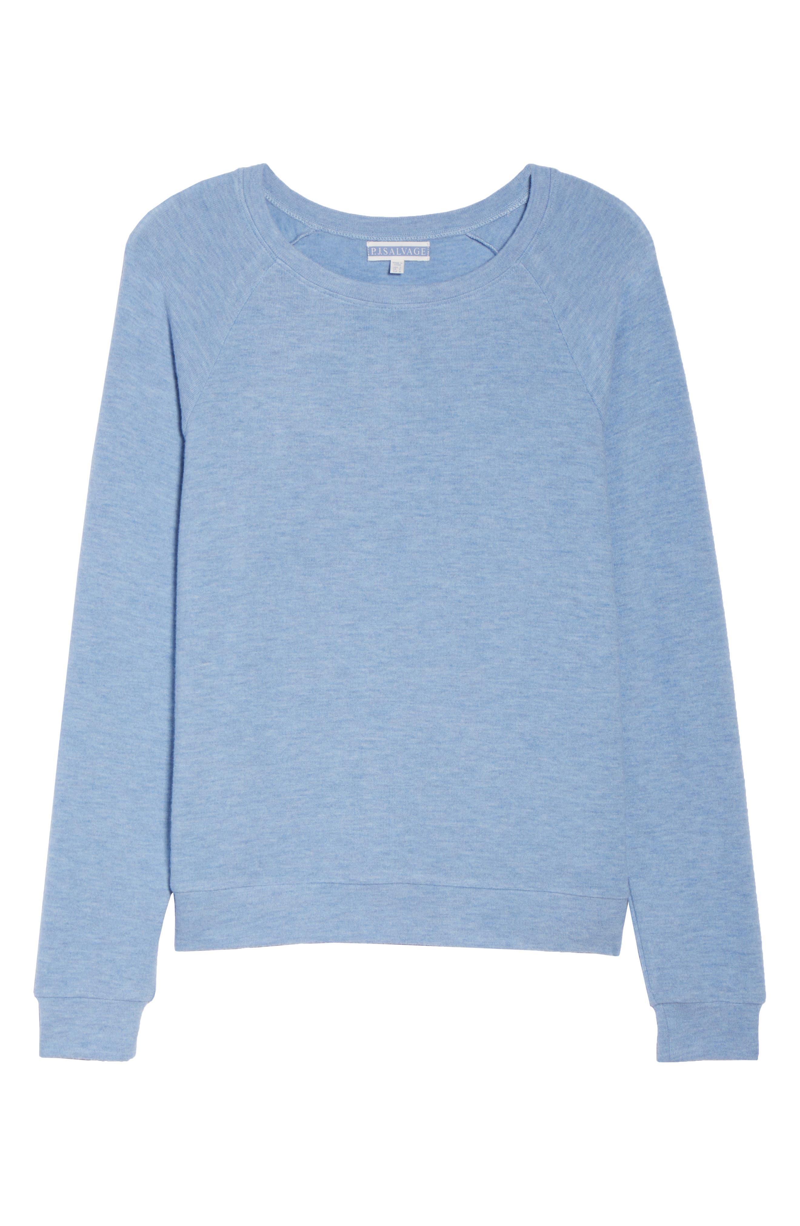 Peachy Pajama Shirt,                             Alternate thumbnail 4, color,                             Blue