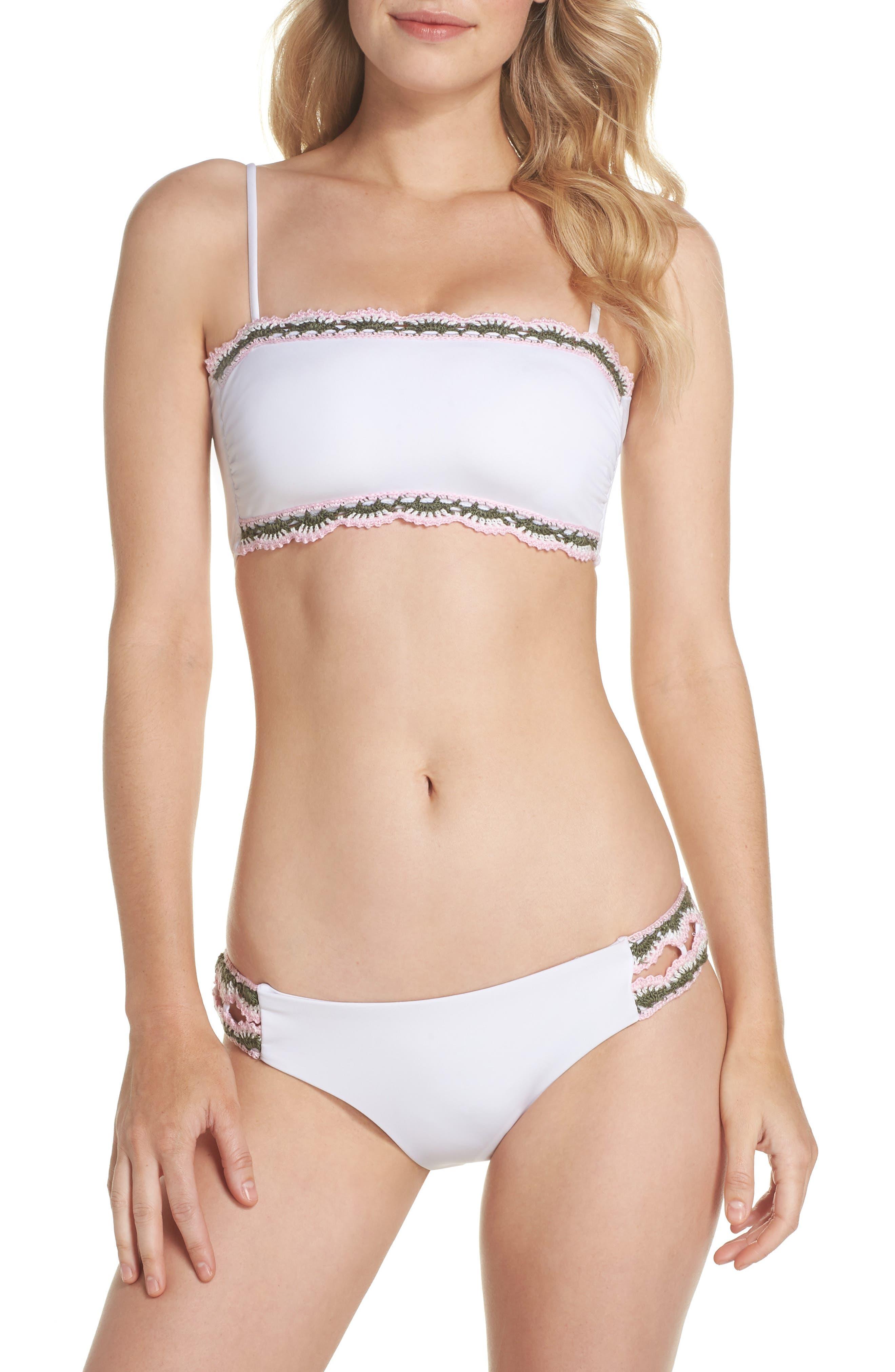 Medina Bandeau Bikini Top,                             Alternate thumbnail 5, color,                             White