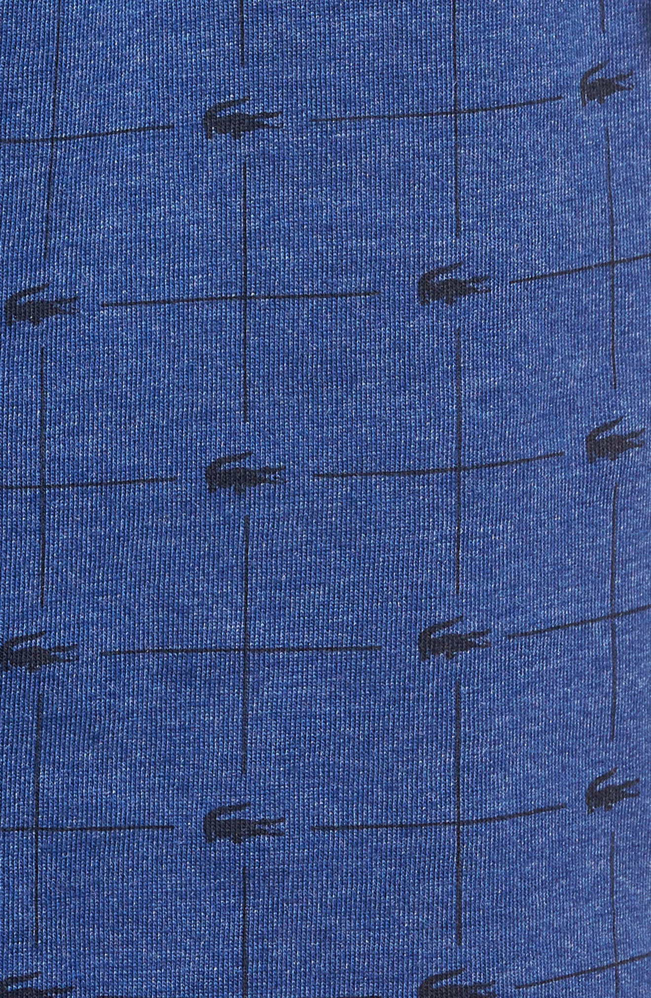 Knit Cotton Lounge Shorts,                             Alternate thumbnail 4, color,                             Classic Blue