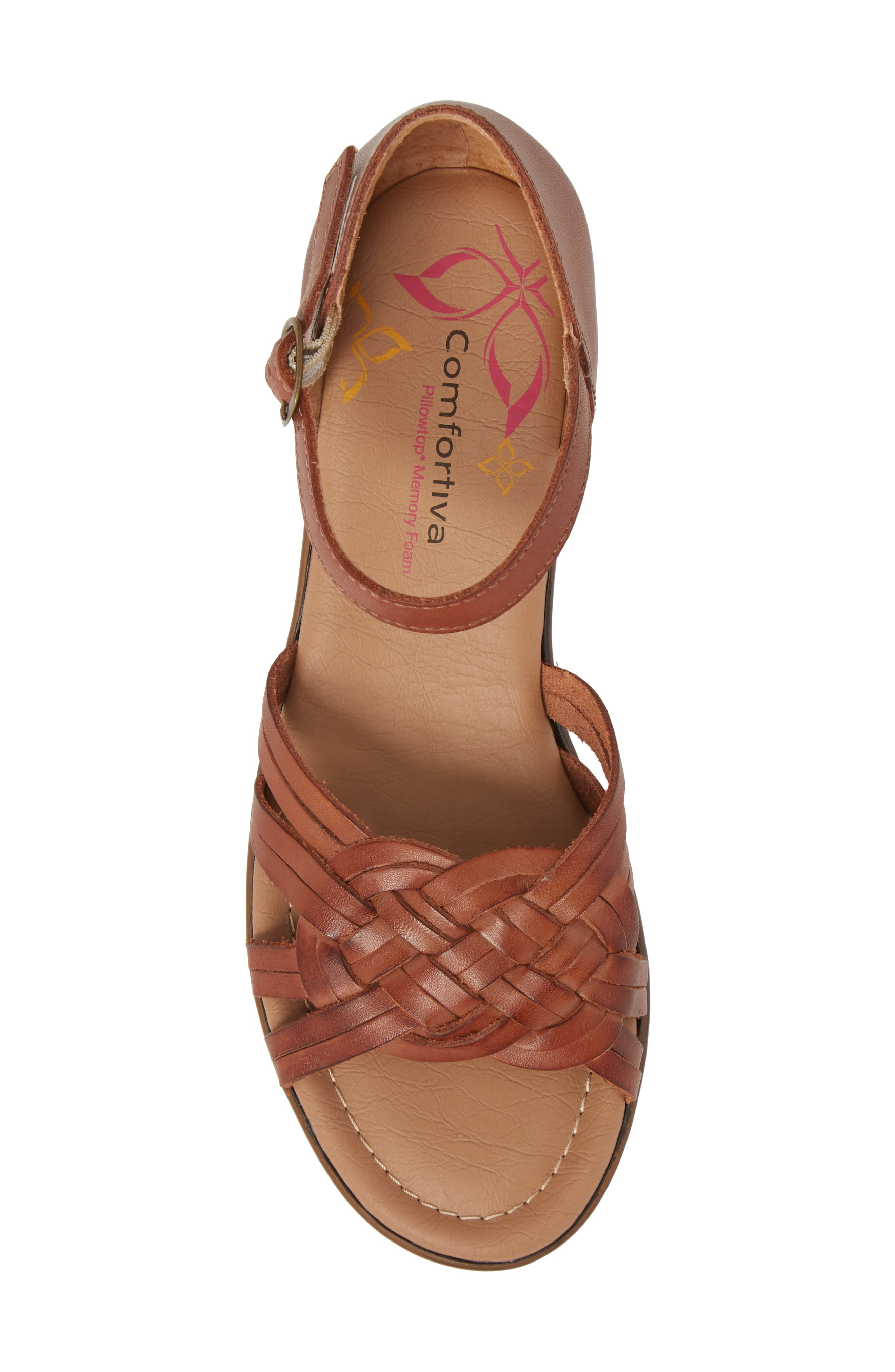 Fortune Sandal,                             Alternate thumbnail 5, color,                             Rust Leather