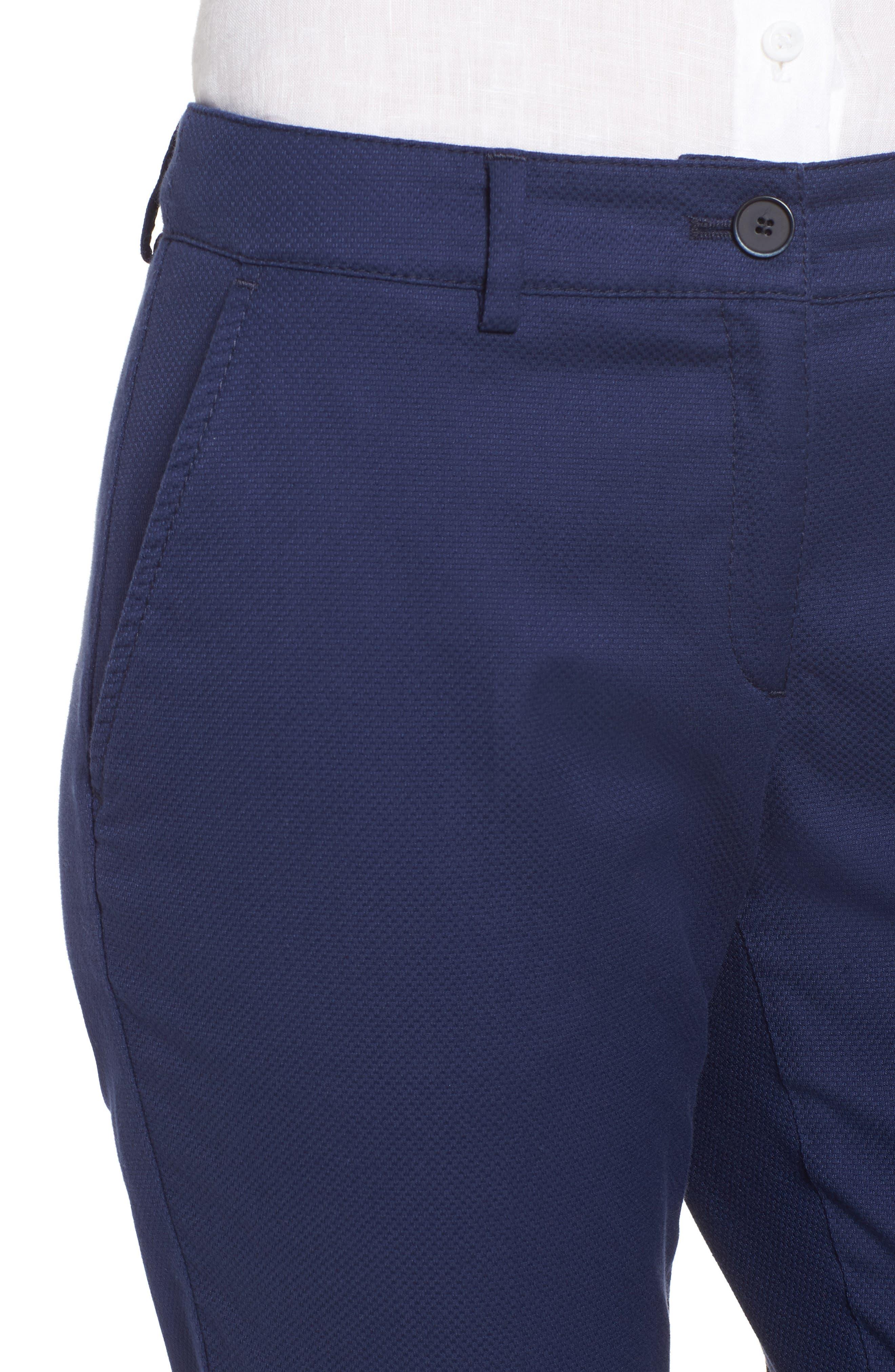 Maron Cuffed Straight Leg Pants,                             Alternate thumbnail 4, color,                             Navy