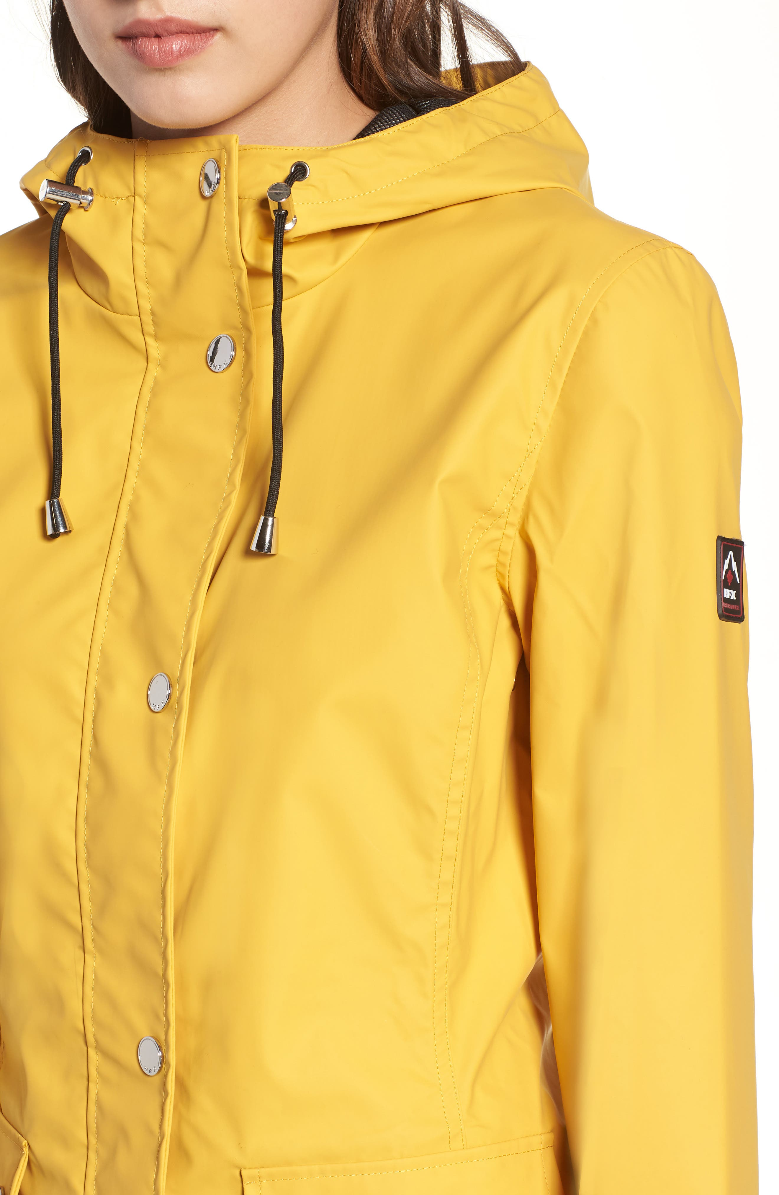 Hooded Raincoat,                             Alternate thumbnail 4, color,                             Yellow