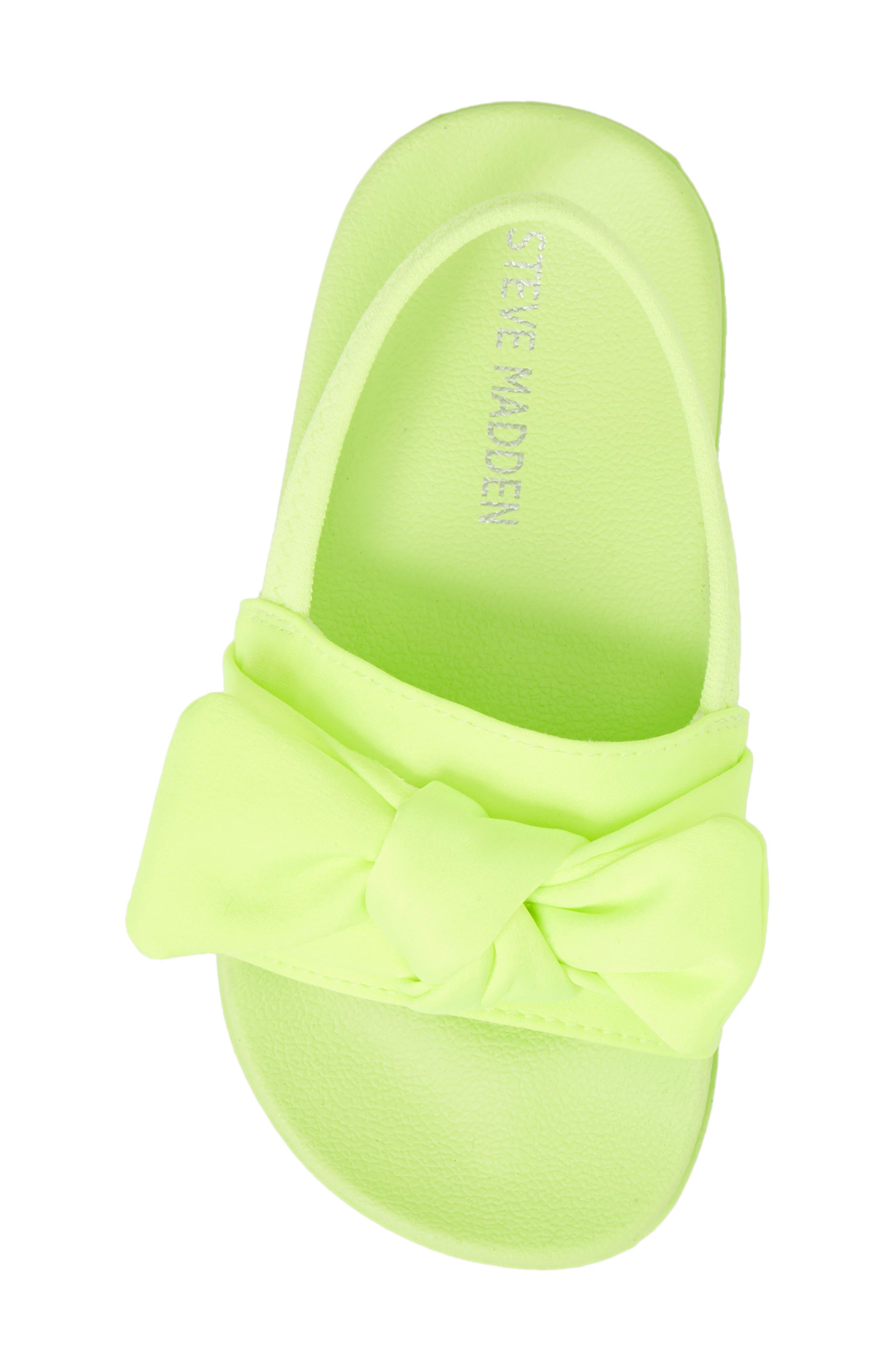 Tsilky Knotted Slide Sandal,                             Alternate thumbnail 5, color,                             Citron