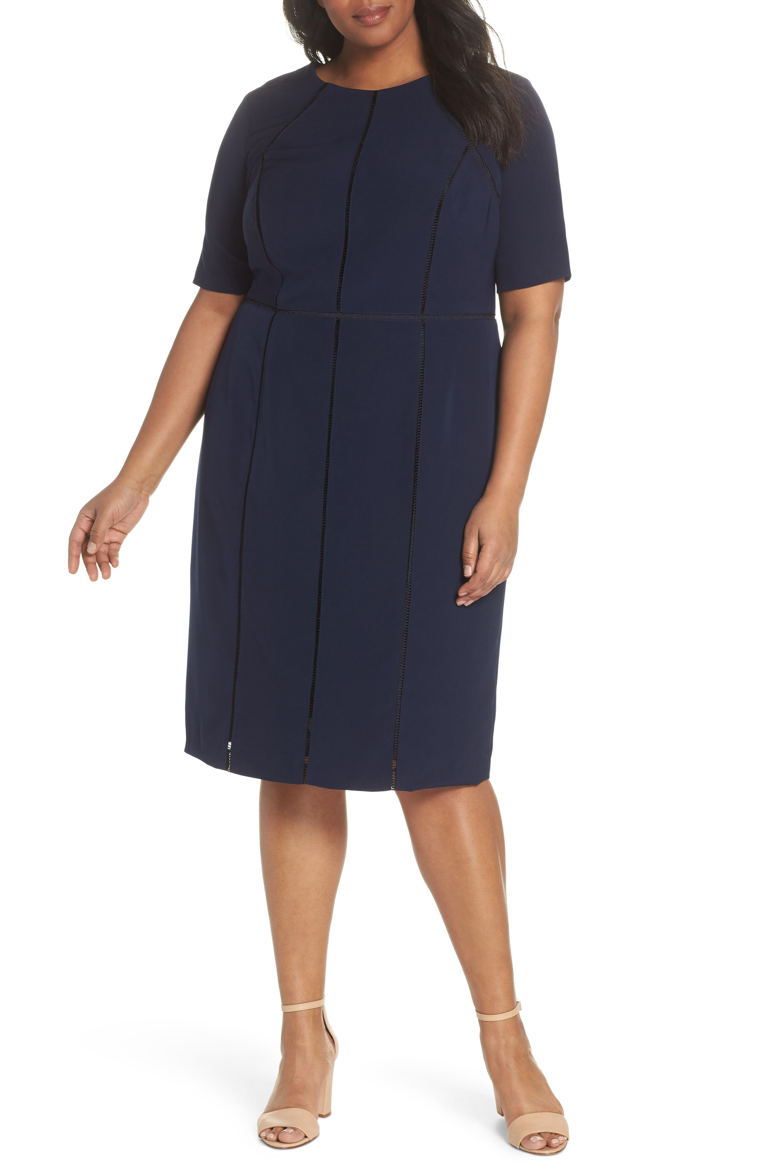 Maggy London Dream Crepe Sheath Dress (Plus Size)