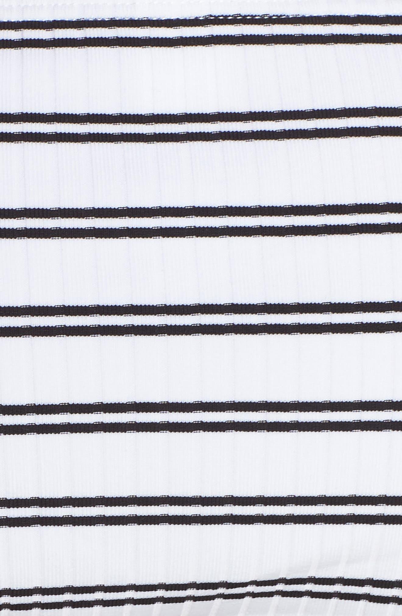Inka Striped Hipster Bikini Bottoms,                             Alternate thumbnail 8, color,                             White