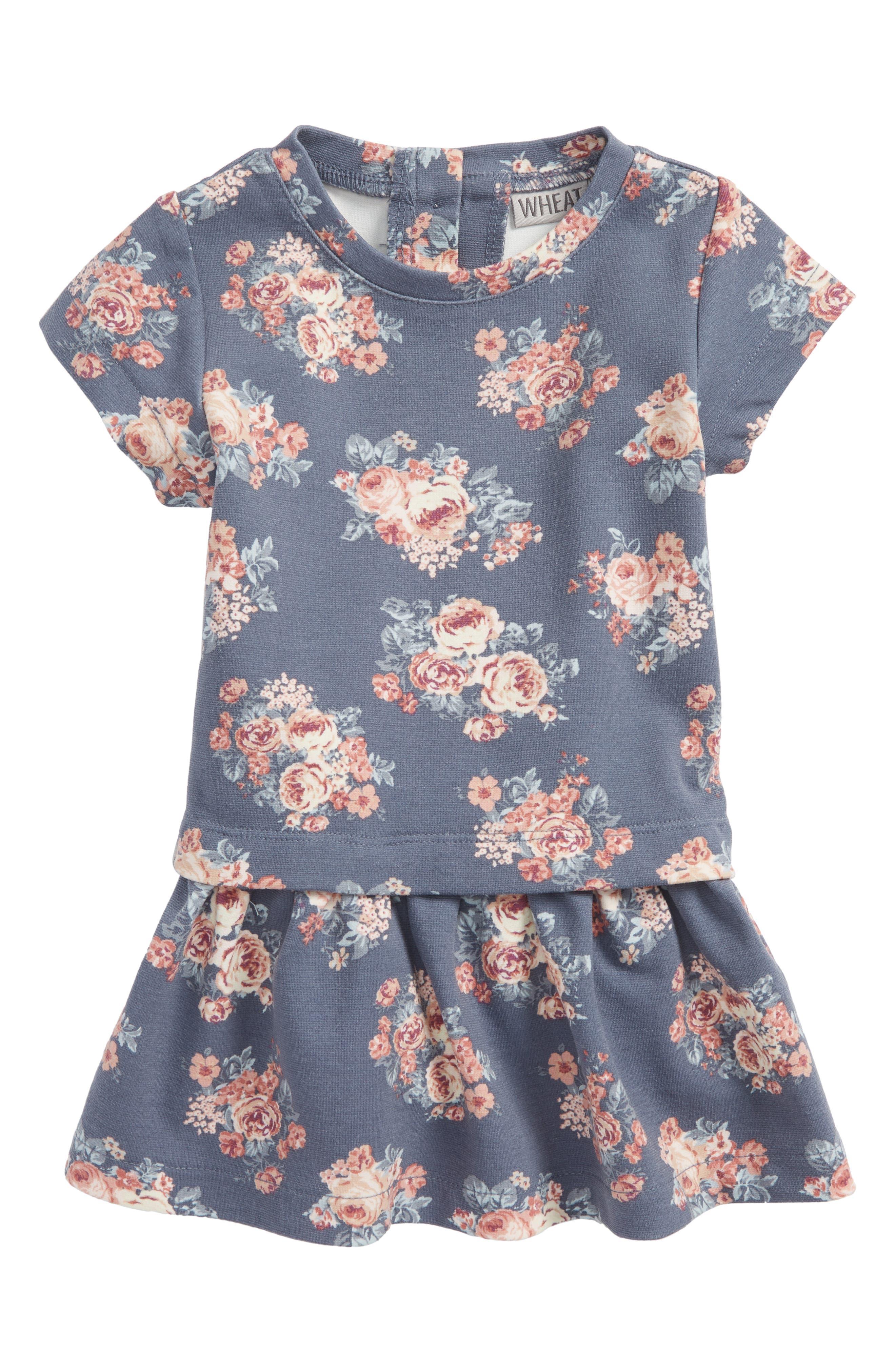 Michella Drop Waist Dress,                         Main,                         color, Grisaille