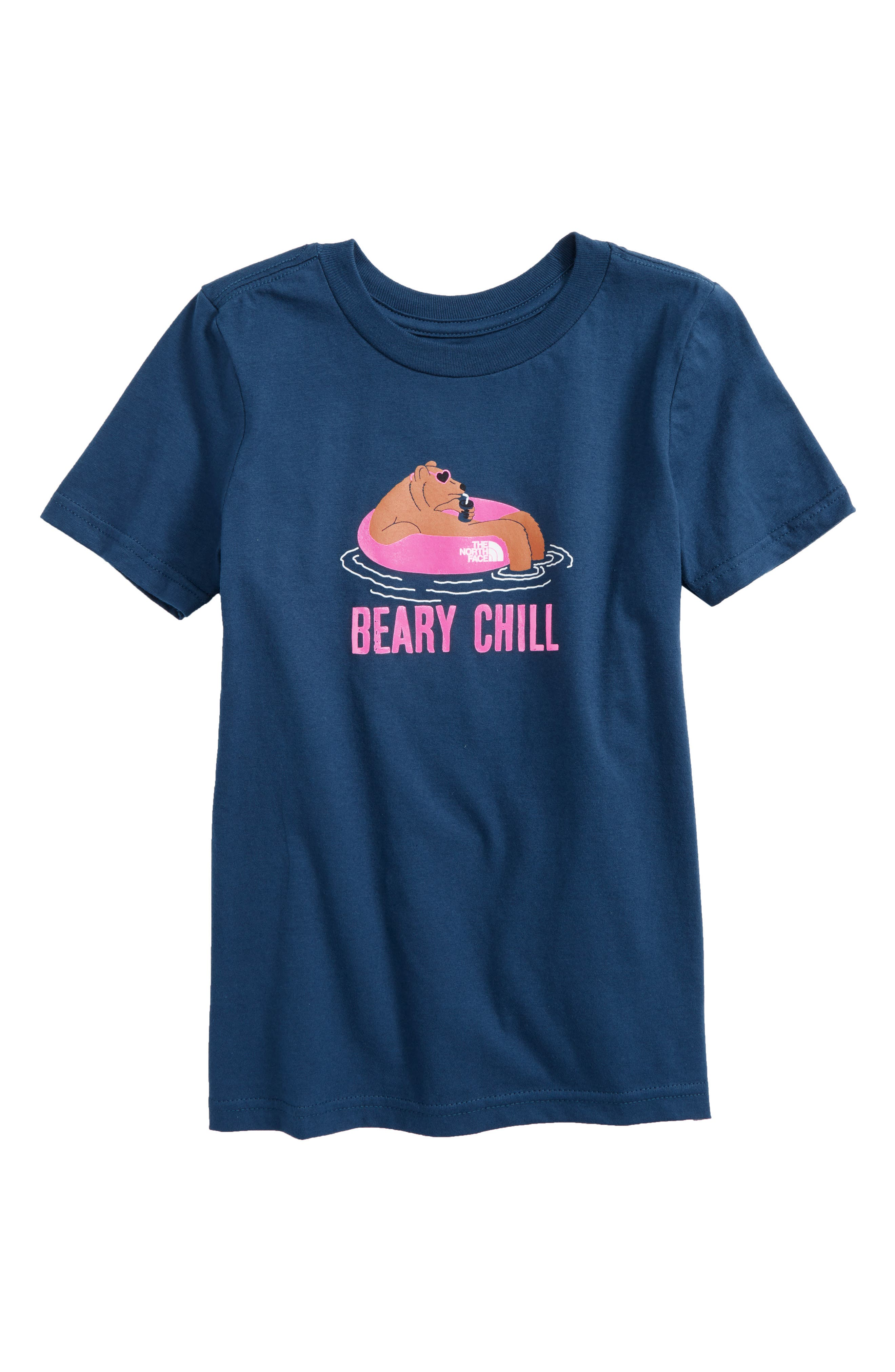 Beary Chill T-Shirt,                             Main thumbnail 1, color,                             Blue Wing Teal