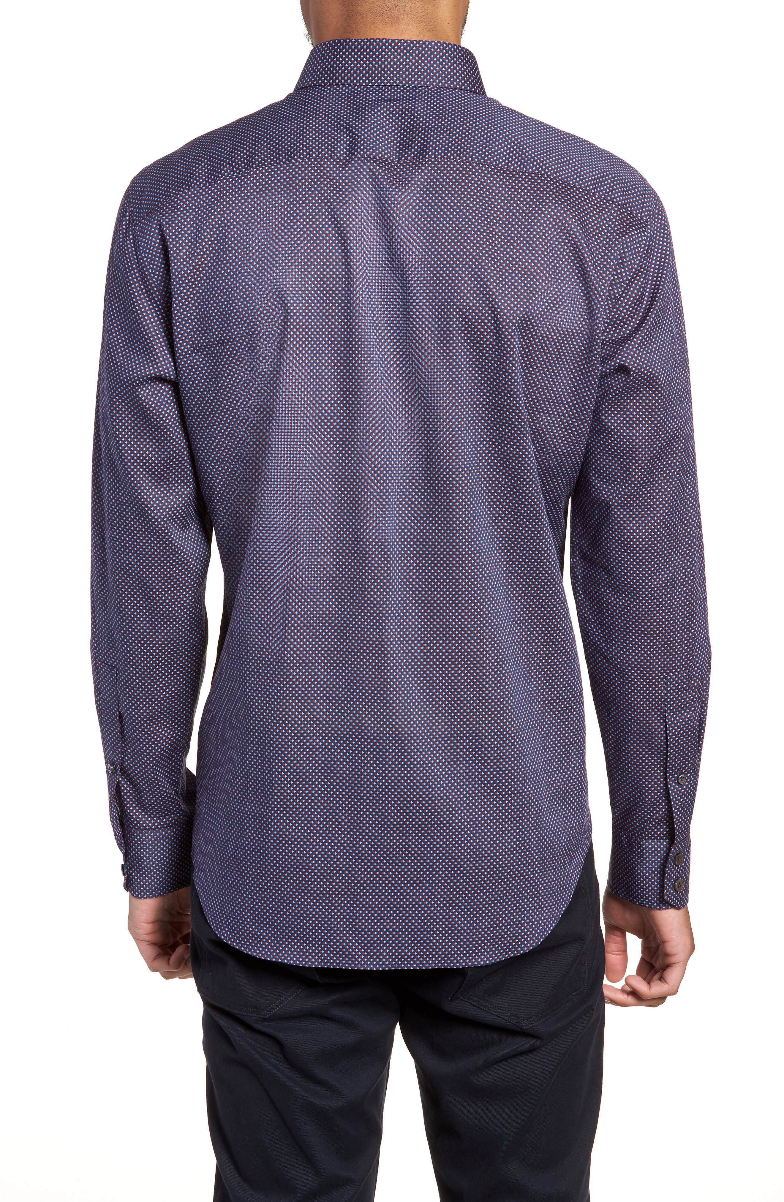 Wilson Geo Print Sport Shirt,                             Alternate thumbnail 2, color,                             Navy