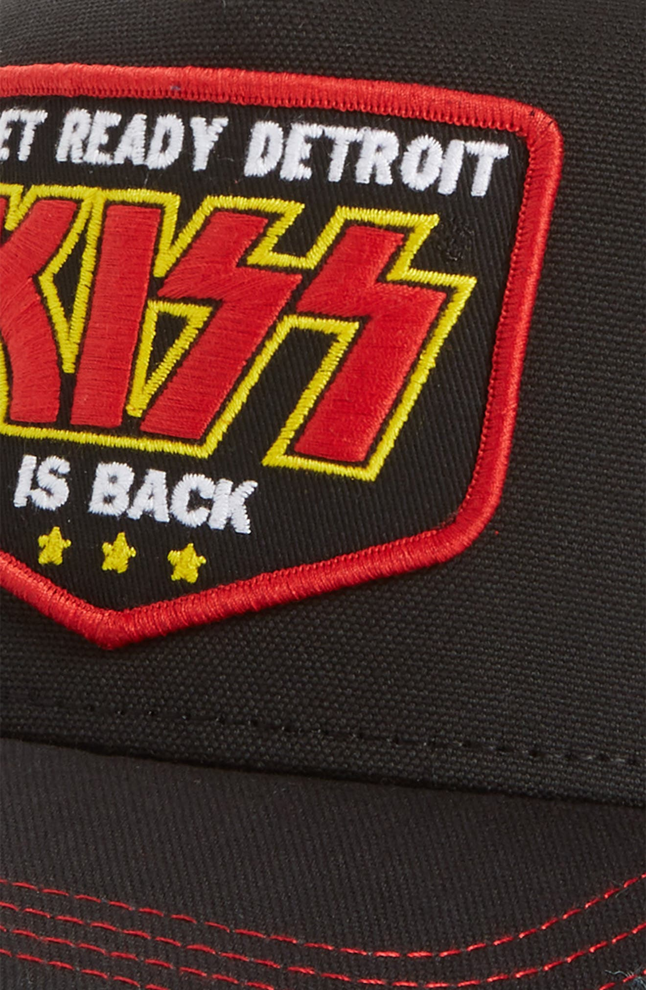 Valin KISS Trucker Hat,                             Alternate thumbnail 3, color,                             Black