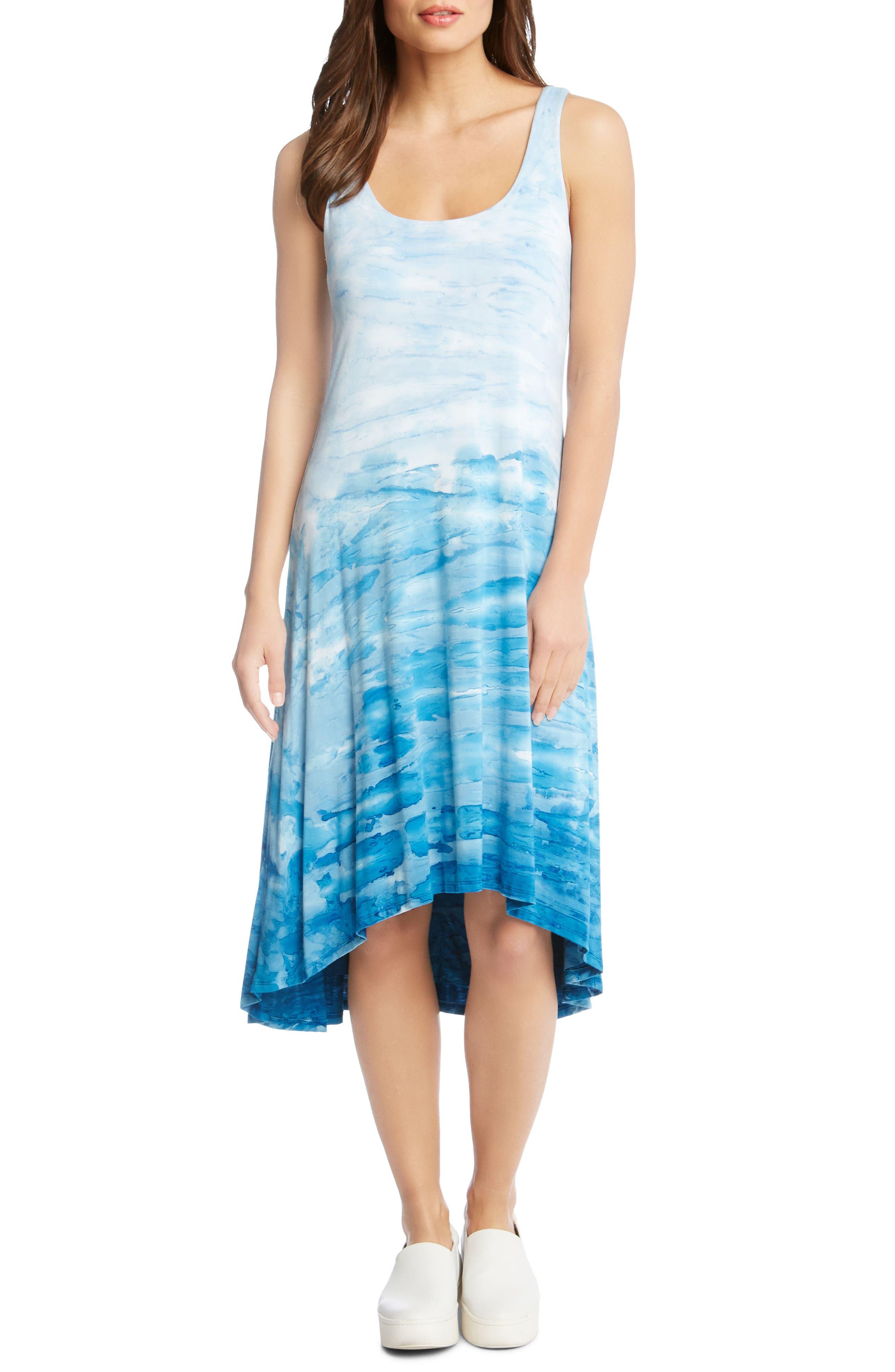 Tie Dye High/Low Tank Dress,                             Main thumbnail 1, color,                             Tie-Die