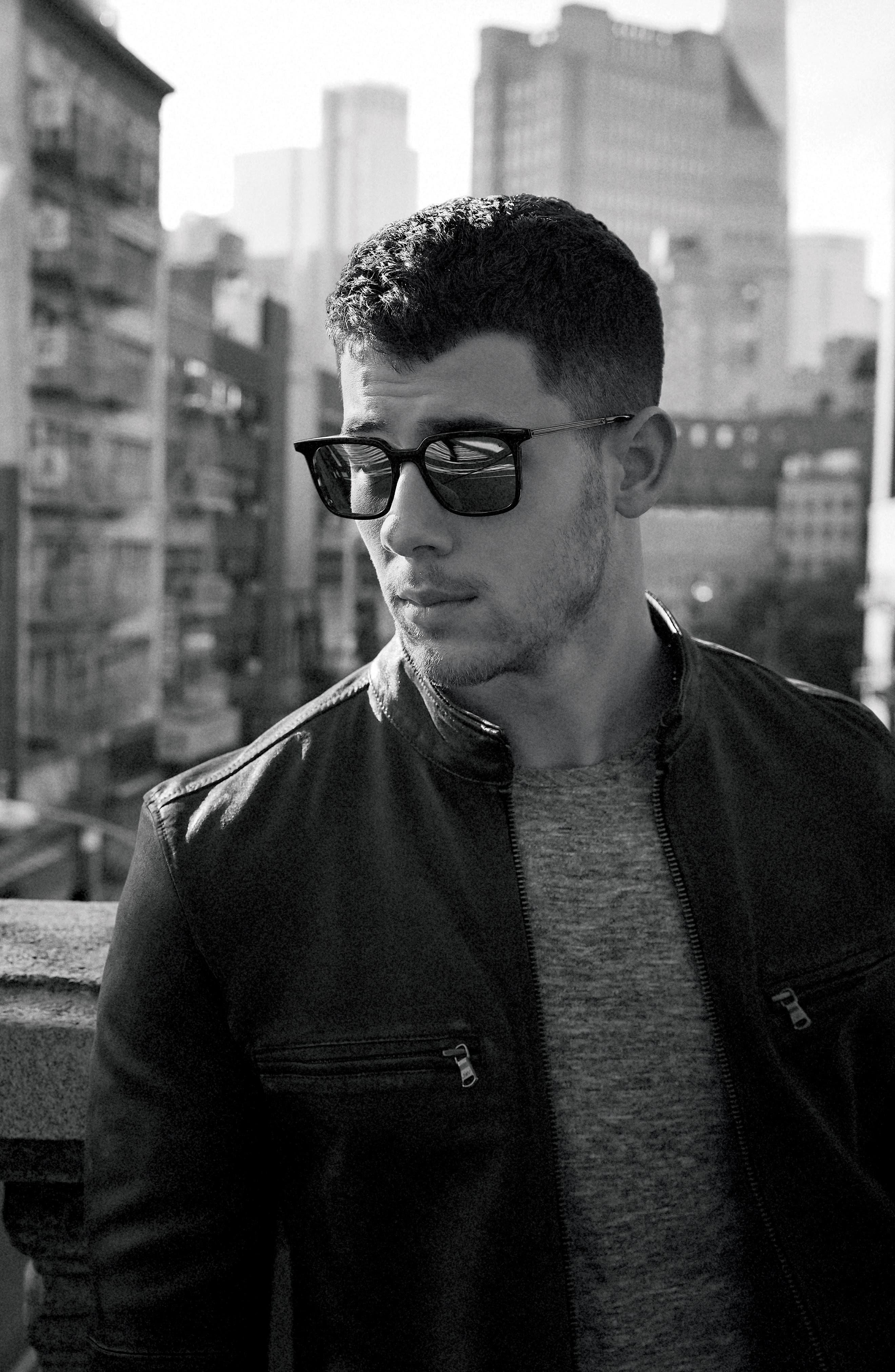 John Varvatos x Nick Jonas Modern Moto Jacket,                             Alternate thumbnail 2, color,                             Shark Grey
