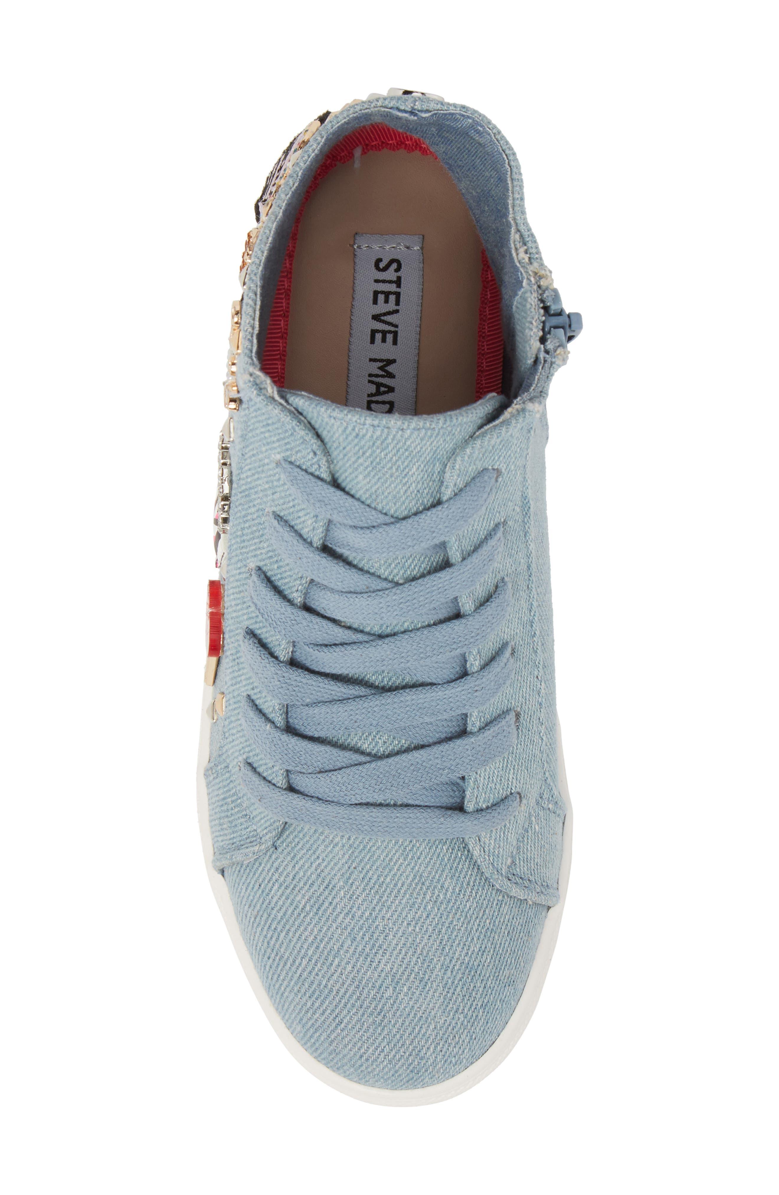 JKOOKIE High Top Sneaker,                             Alternate thumbnail 5, color,                             Denim