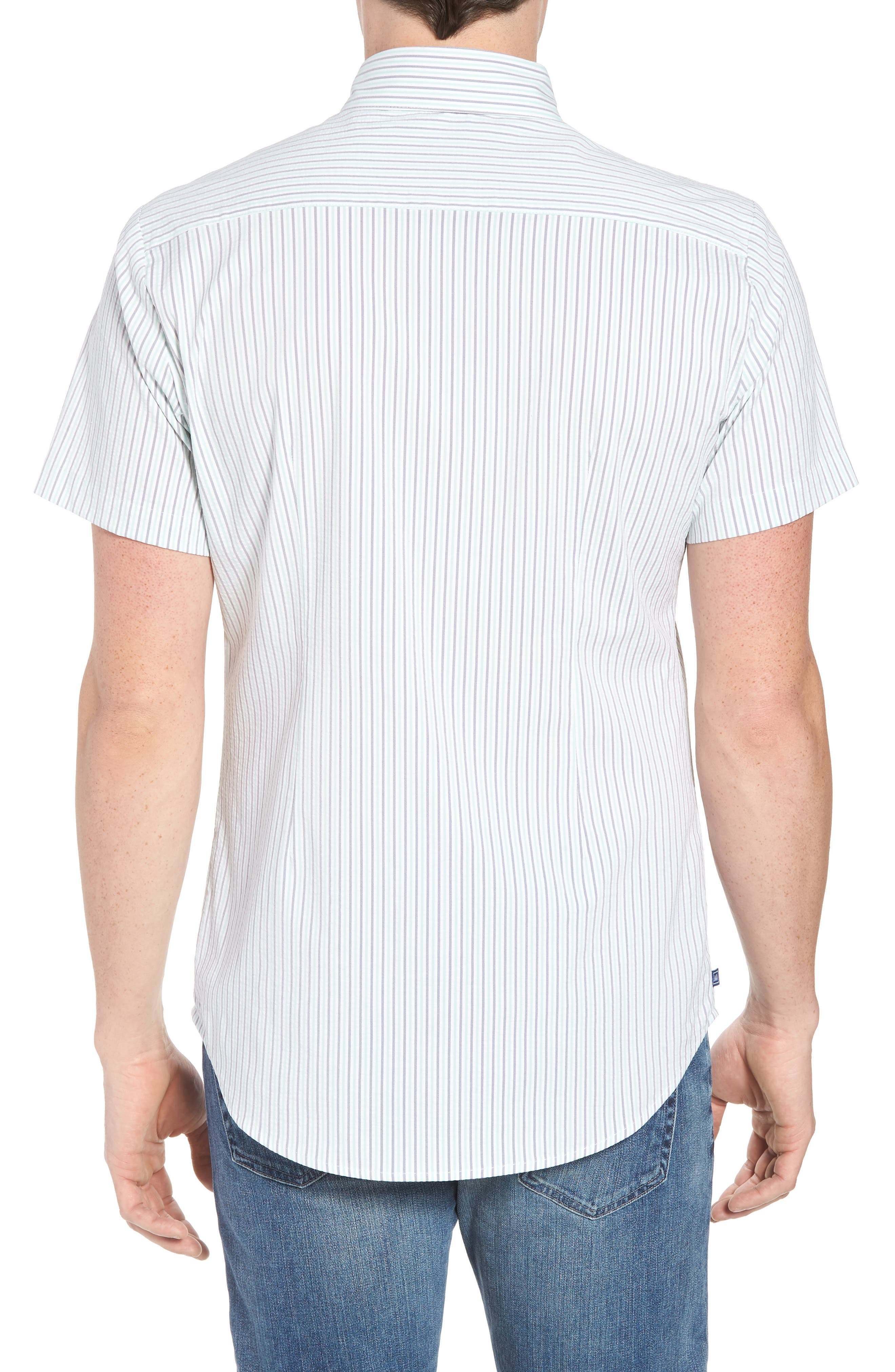Eastland Short Sleeve Sport Shirt,                             Alternate thumbnail 3, color,                             Green