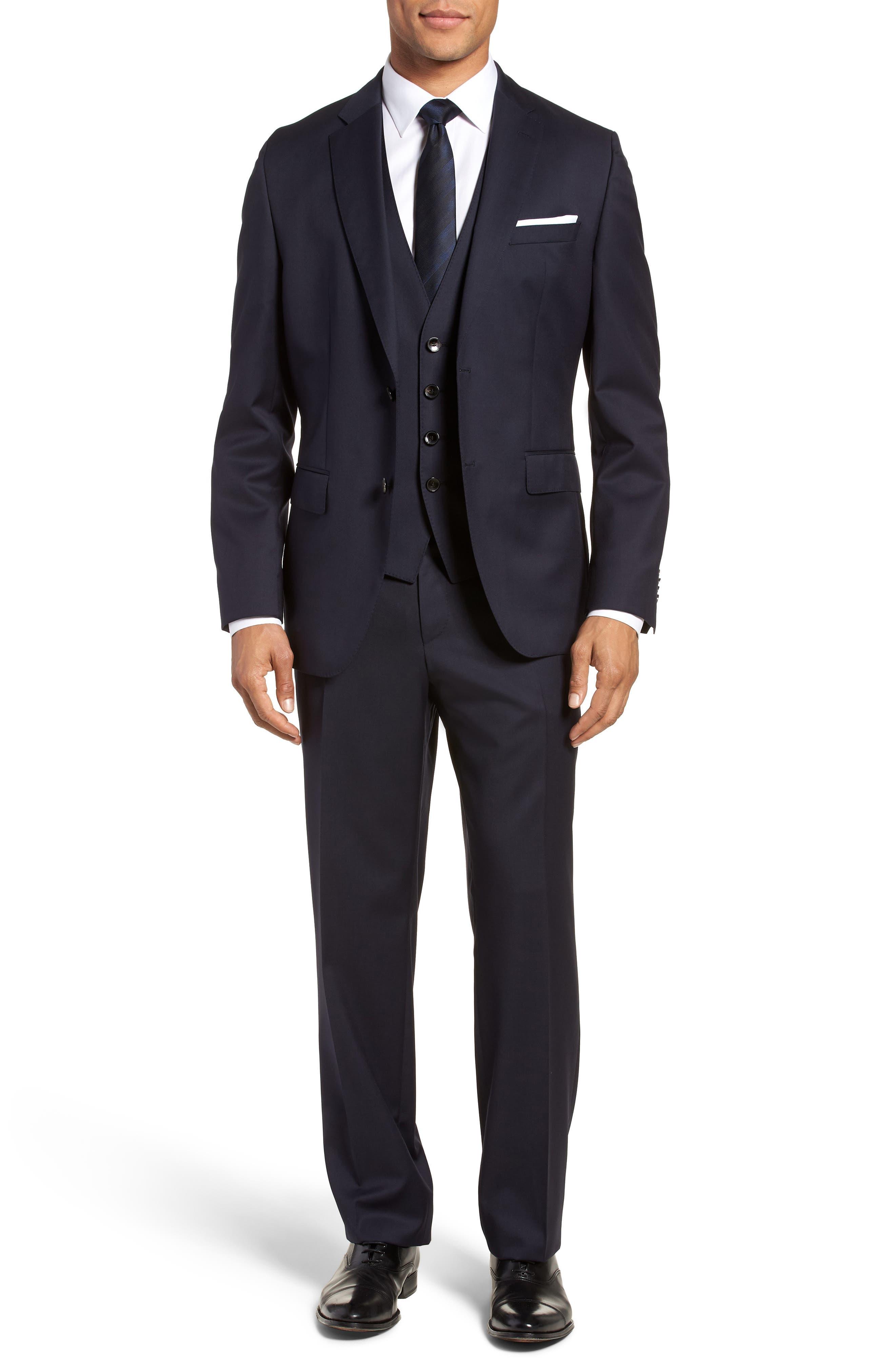 Wilson CYL Trim Fit Vest,                             Alternate thumbnail 7, color,                             Dark Blue