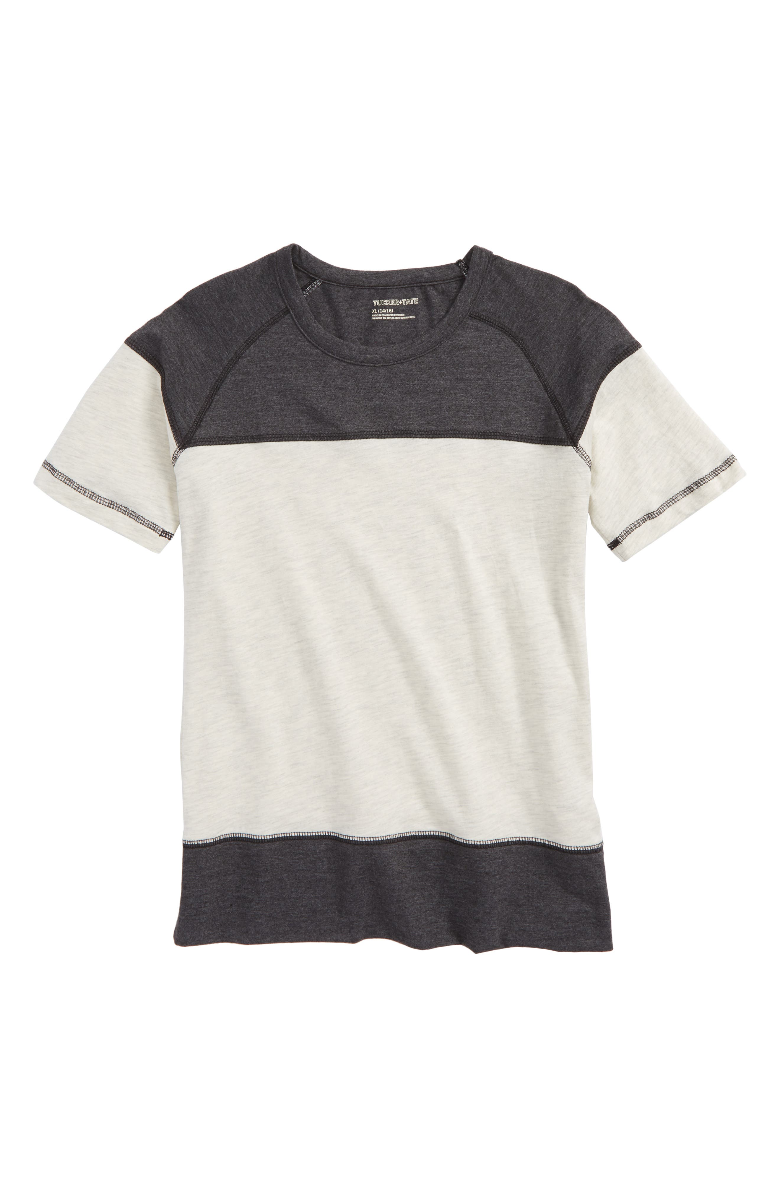 Colorblock T-Shirt,                         Main,                         color, Grey Medium Heather- Black