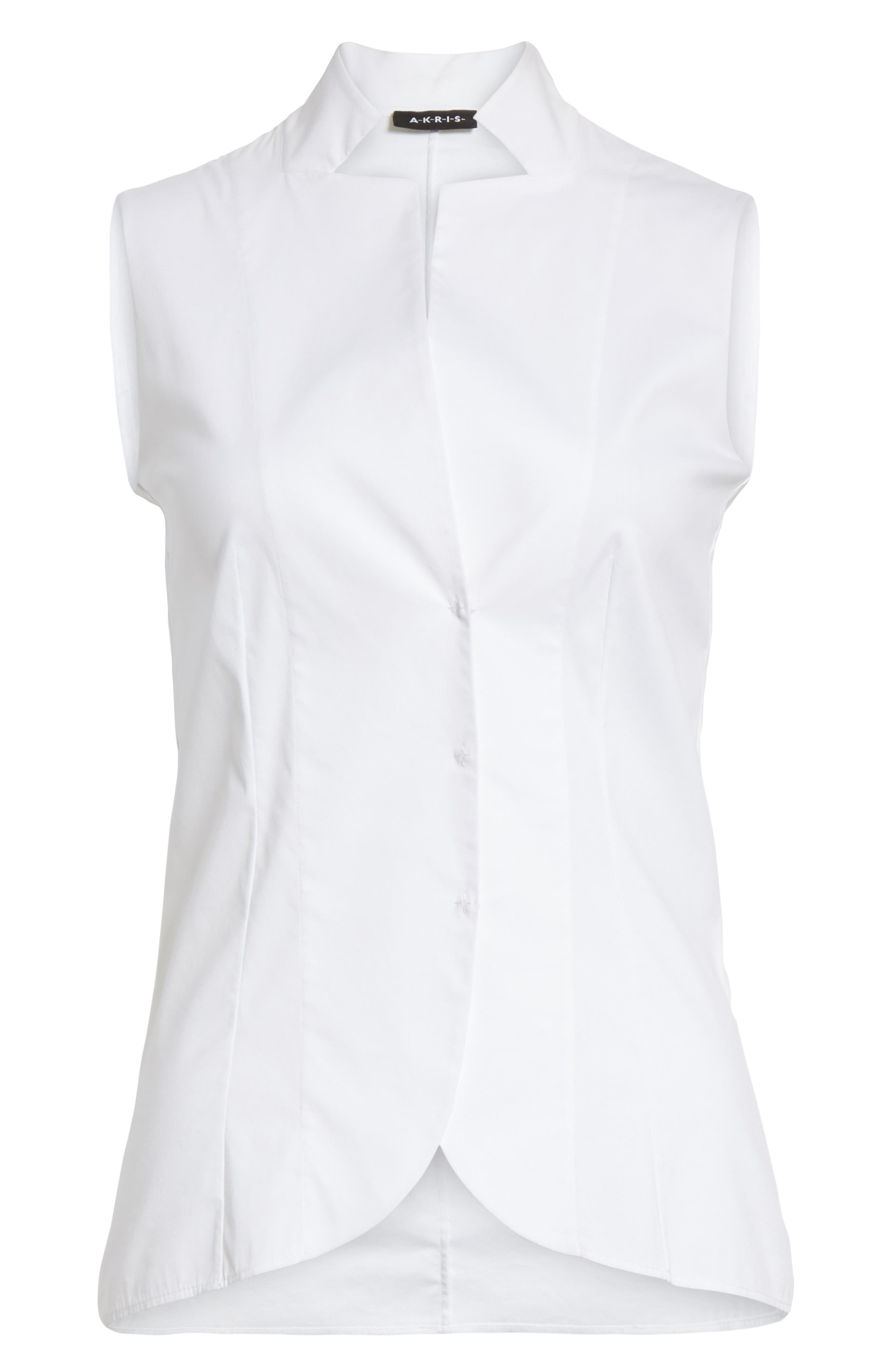 Alternate Image 6  - Akris Notch Collar Blouse