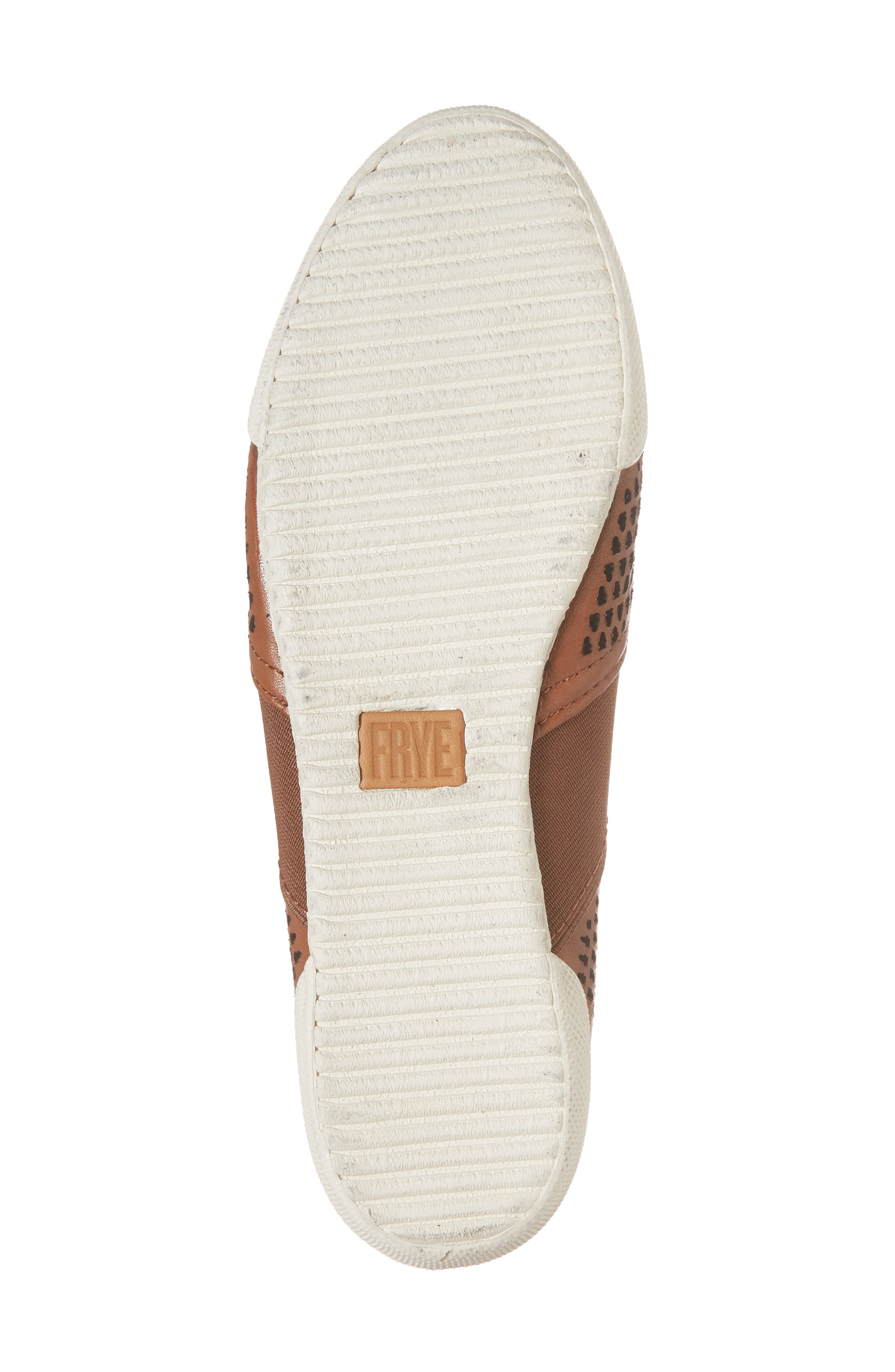 Melanie Perforated Mule,                             Alternate thumbnail 6, color,                             Cognac Leather