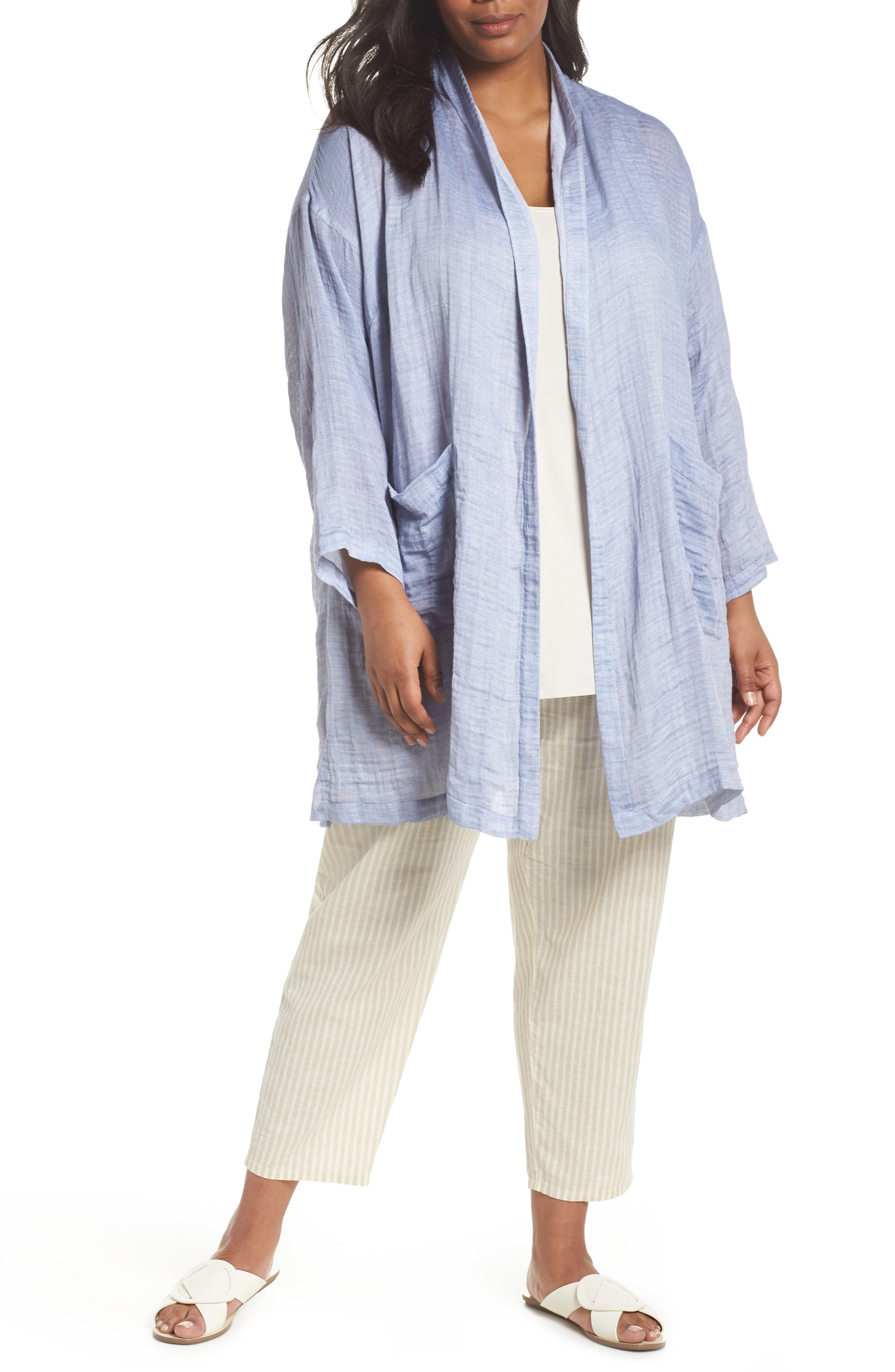 Kimono Jacket,                         Main,                         color, Chambray