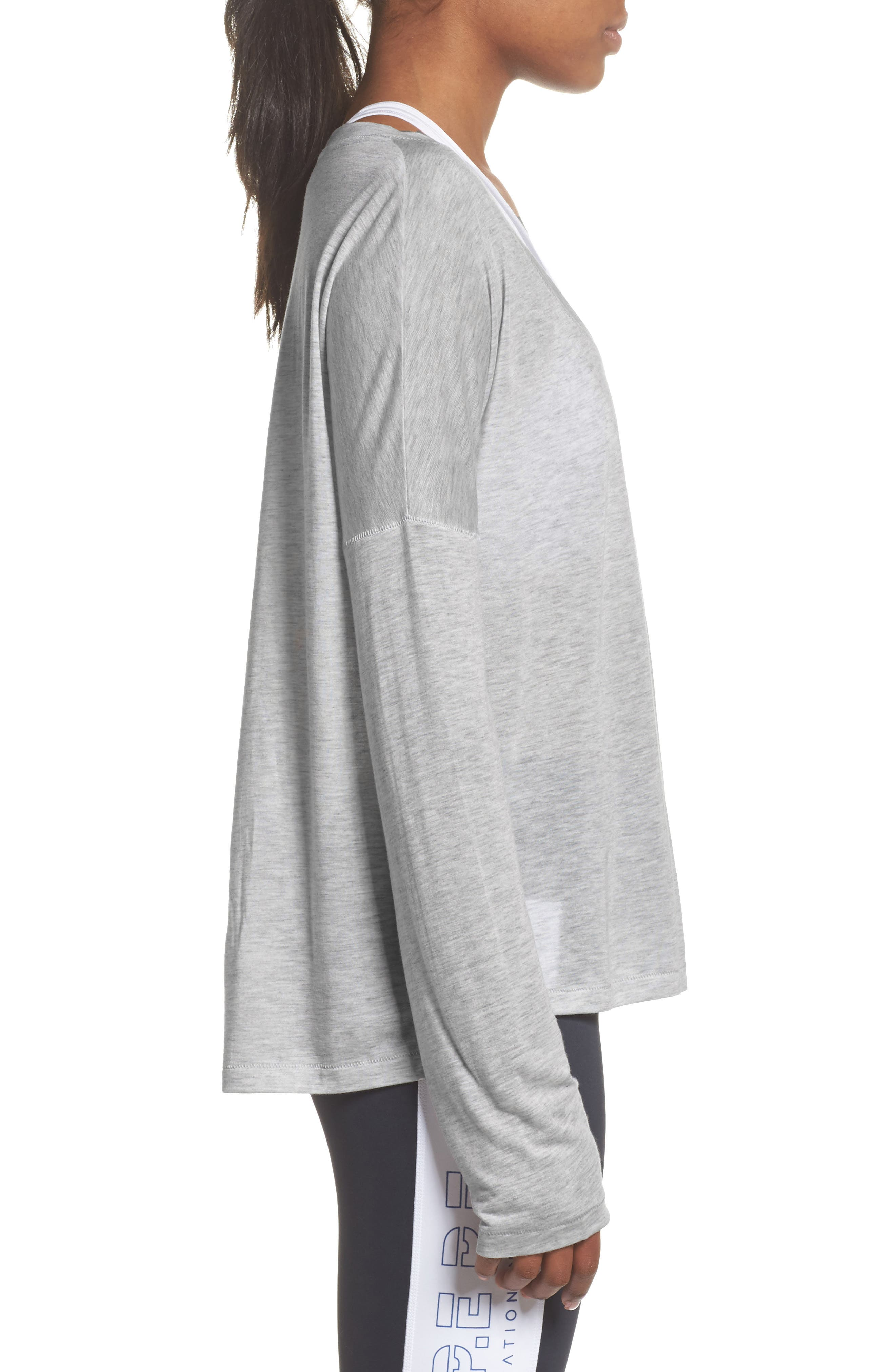Cool Running Top,                             Alternate thumbnail 3, color,                             Grey Marle