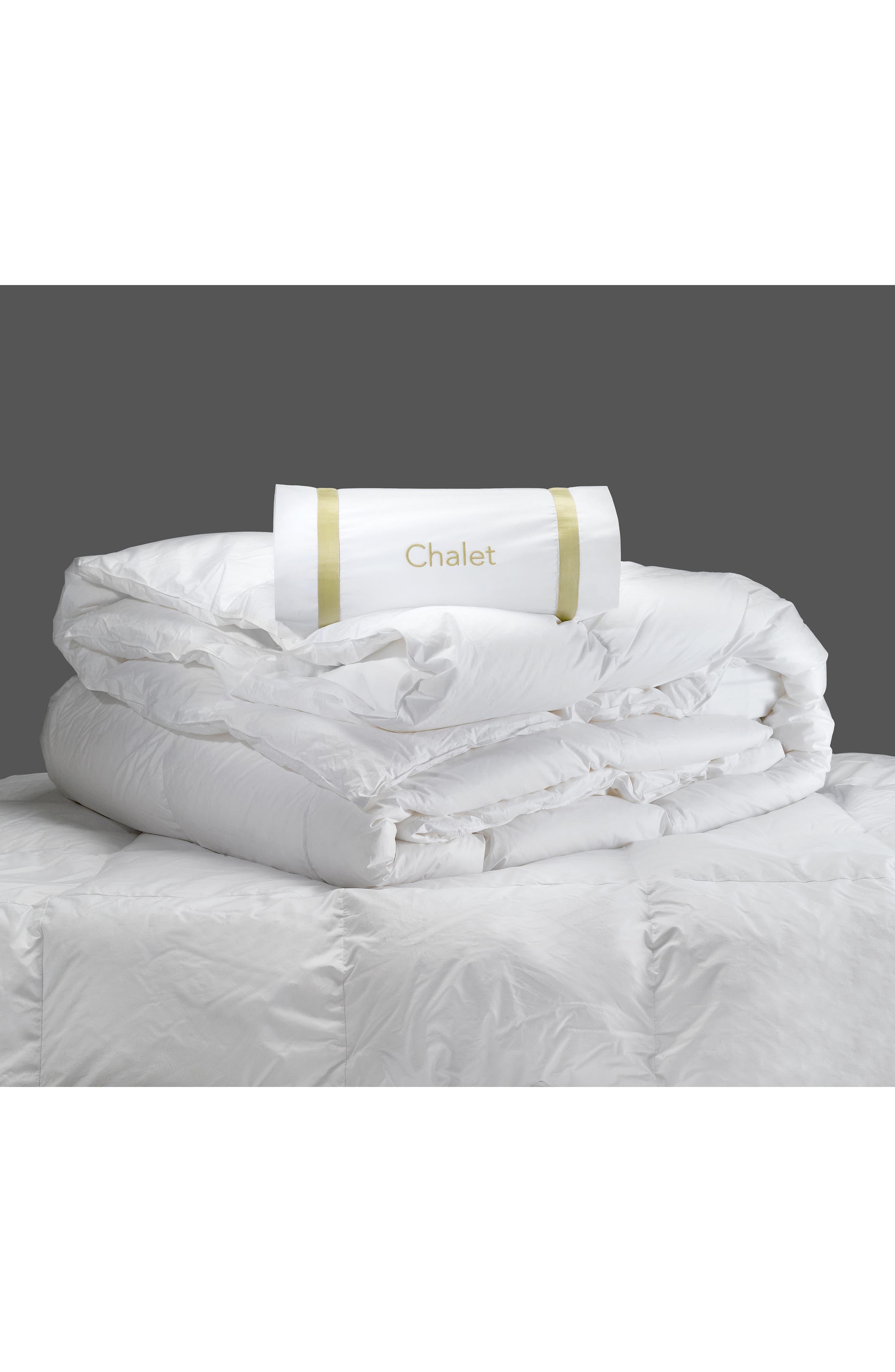 Chalet 800 Fill Power 380 Thread Count All Season Down Comforter,                             Alternate thumbnail 2, color,                             White