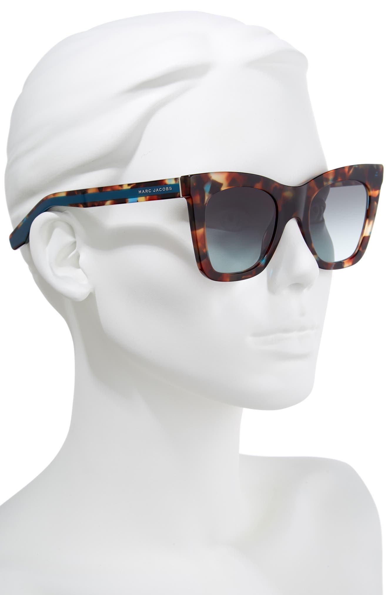 50mm Cat Eye Sunglasses,                             Alternate thumbnail 2, color,                             Havnturqu