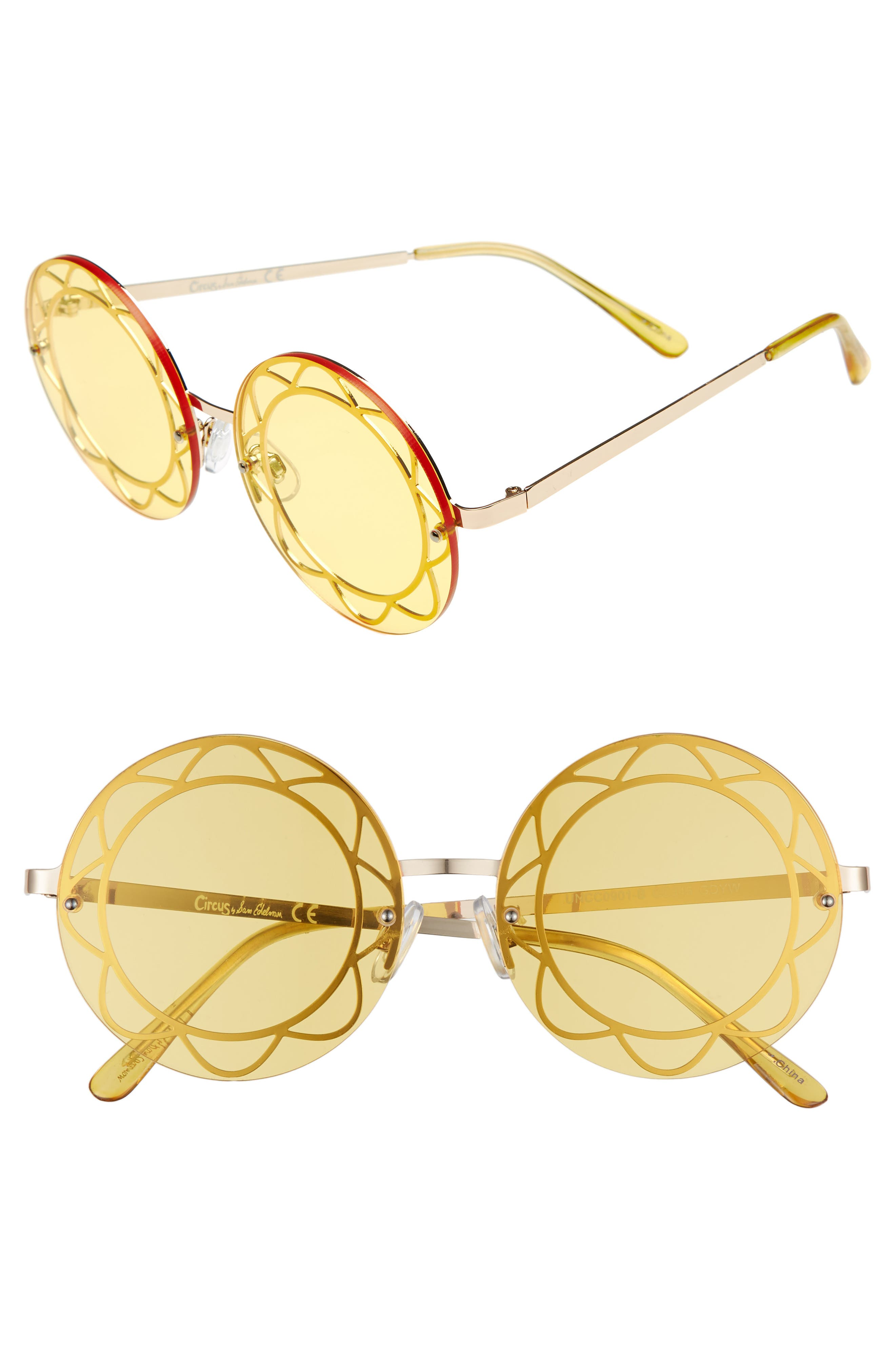 Circus by Sam Edelman 55mm Round Sunglasses