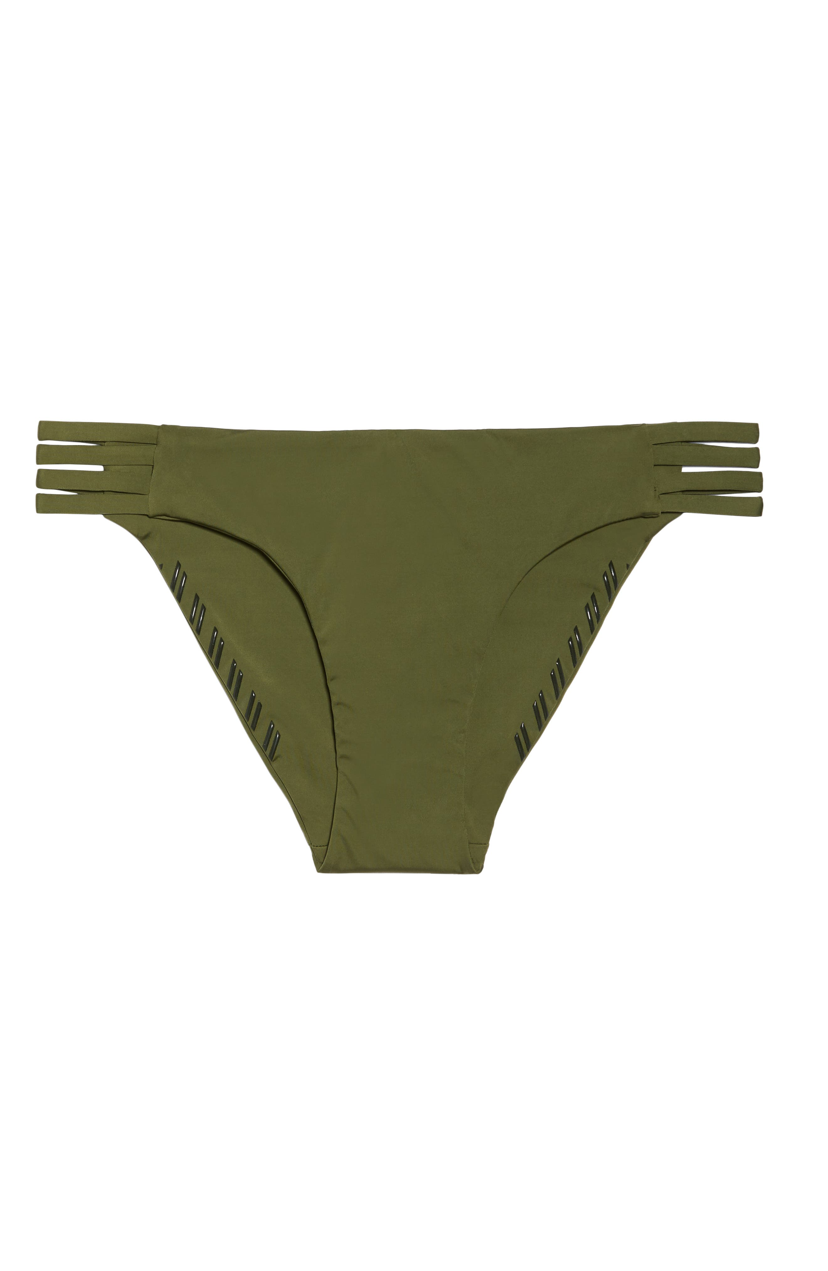 Quick Dry Max Surf Bikini Bottoms,                             Alternate thumbnail 9, color,                             Olive Canvas
