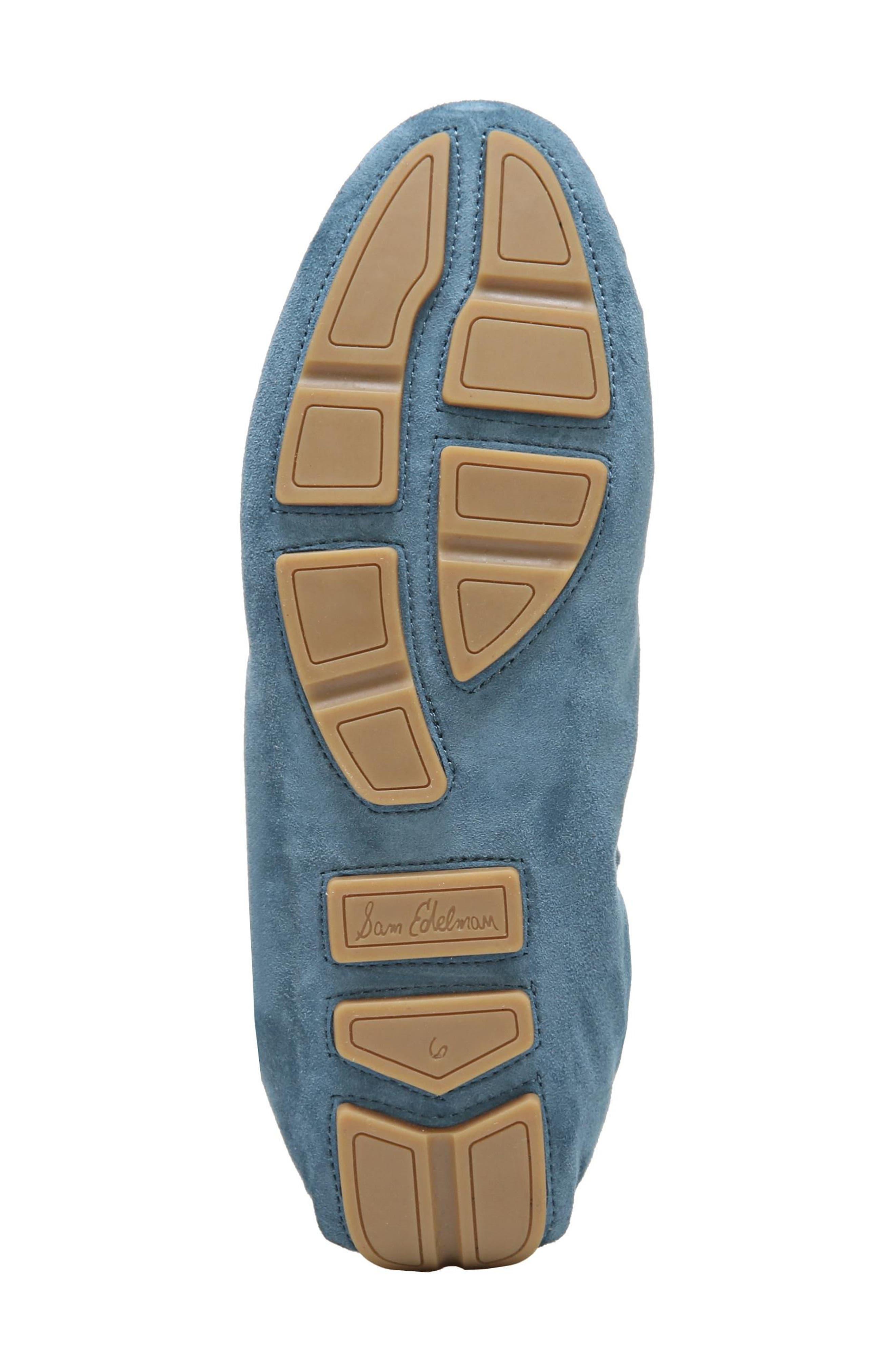 Farrell Moccasin Loafer,                             Alternate thumbnail 6, color,                             Denim Blue Suede