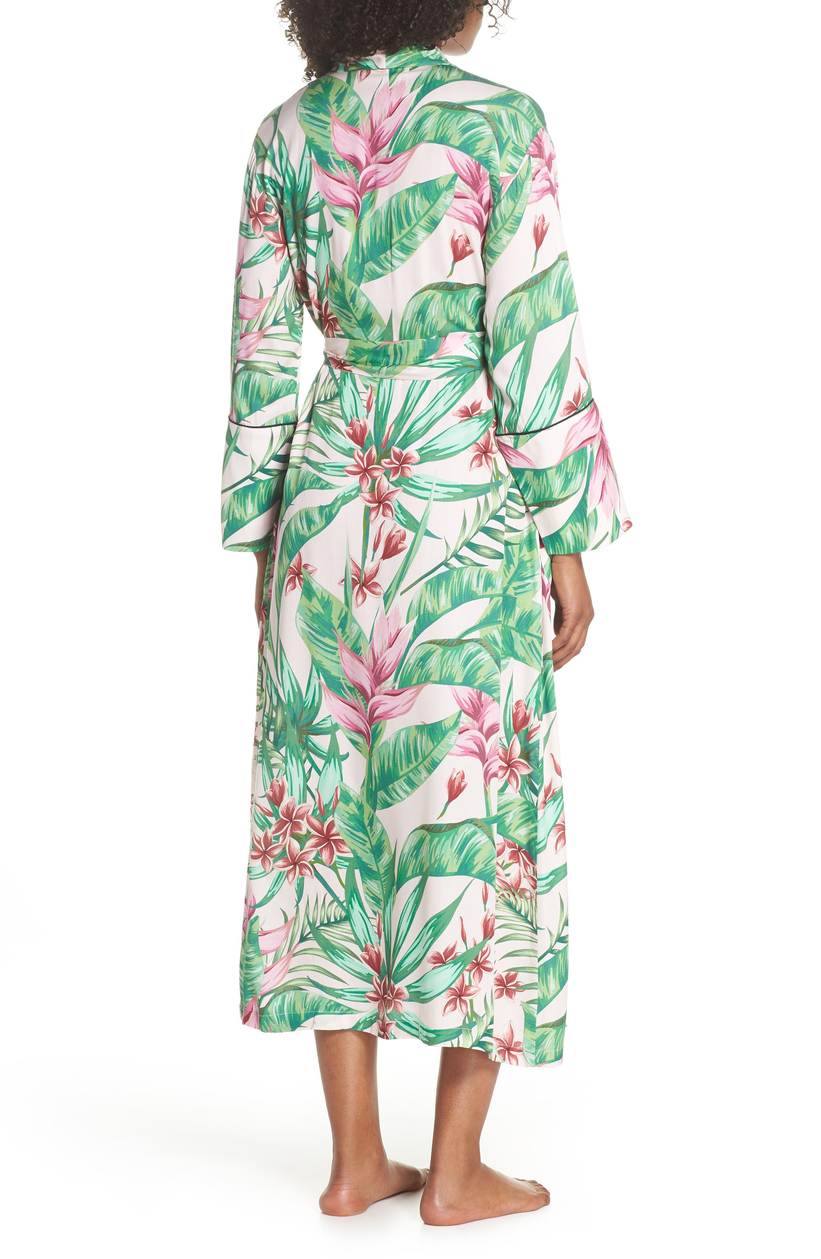 Floral Print Robe,                             Alternate thumbnail 2, color,                             Avalon Palm