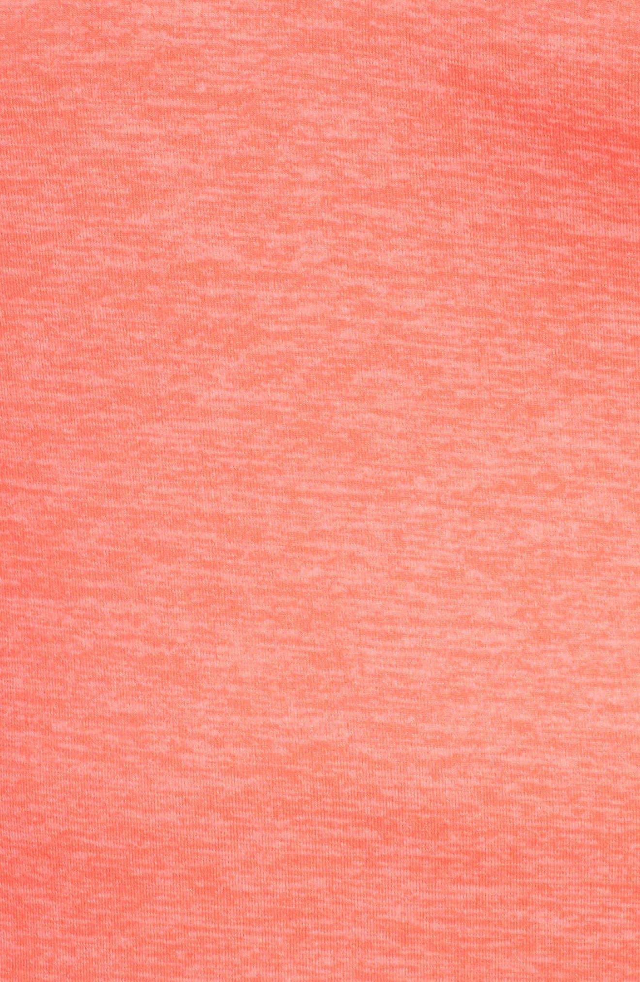 Dry Element Half Zip Top,                             Alternate thumbnail 5, color,                             Crimson Pulse/ Heater