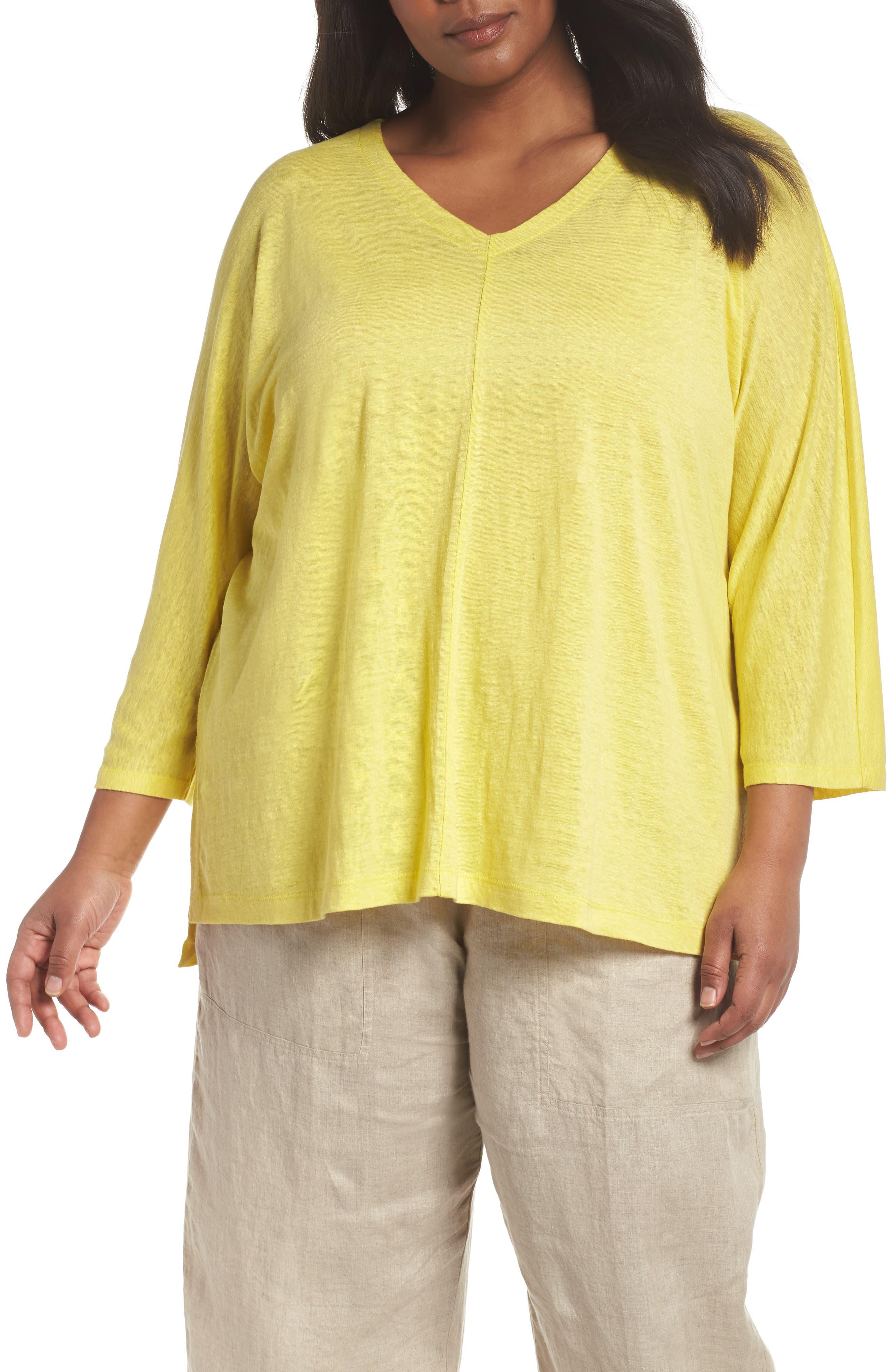 Organic Linen Top,                         Main,                         color, Yarrow