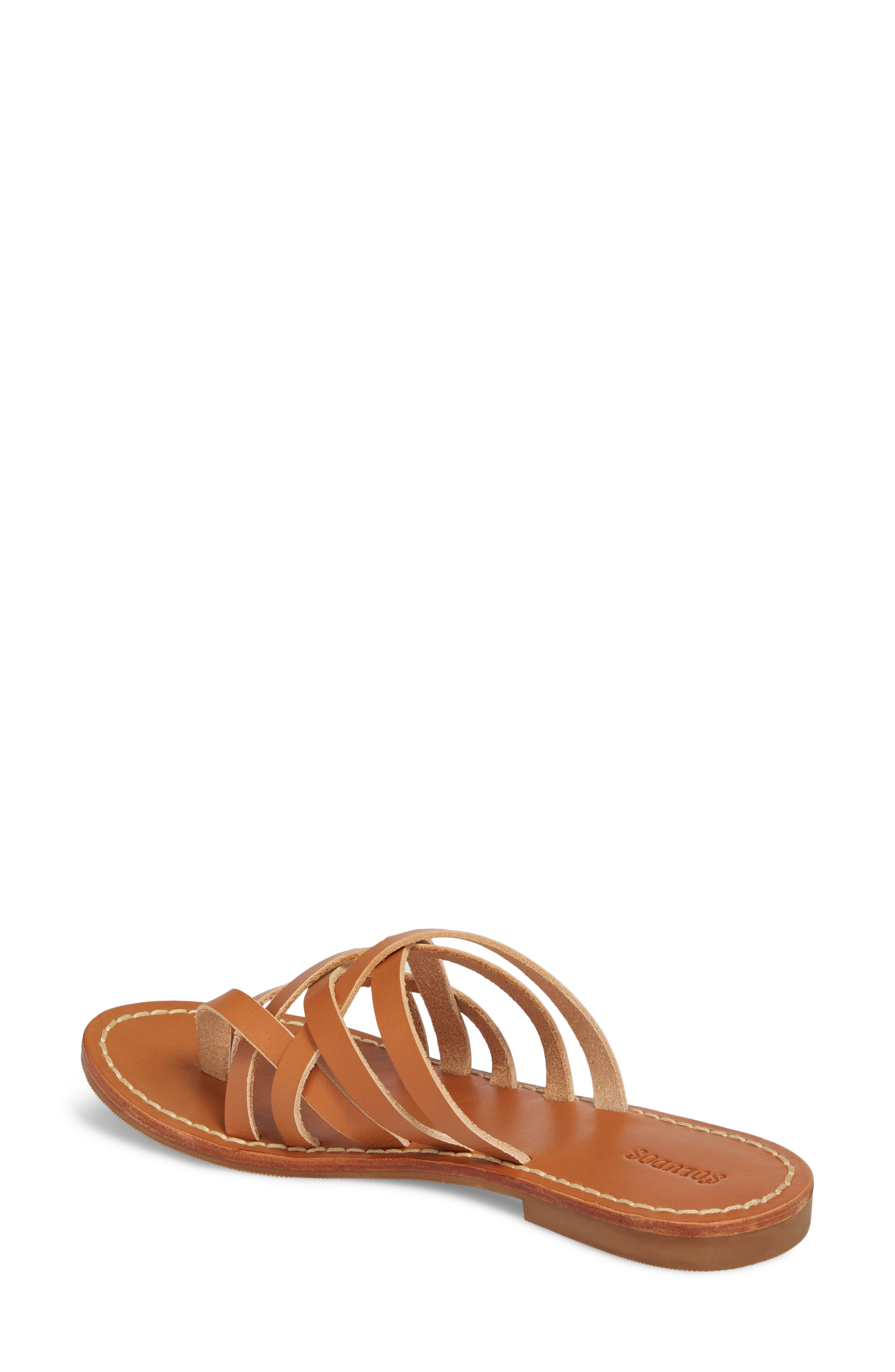 Strappy Sandal,                             Alternate thumbnail 2, color,                             Natural Leather