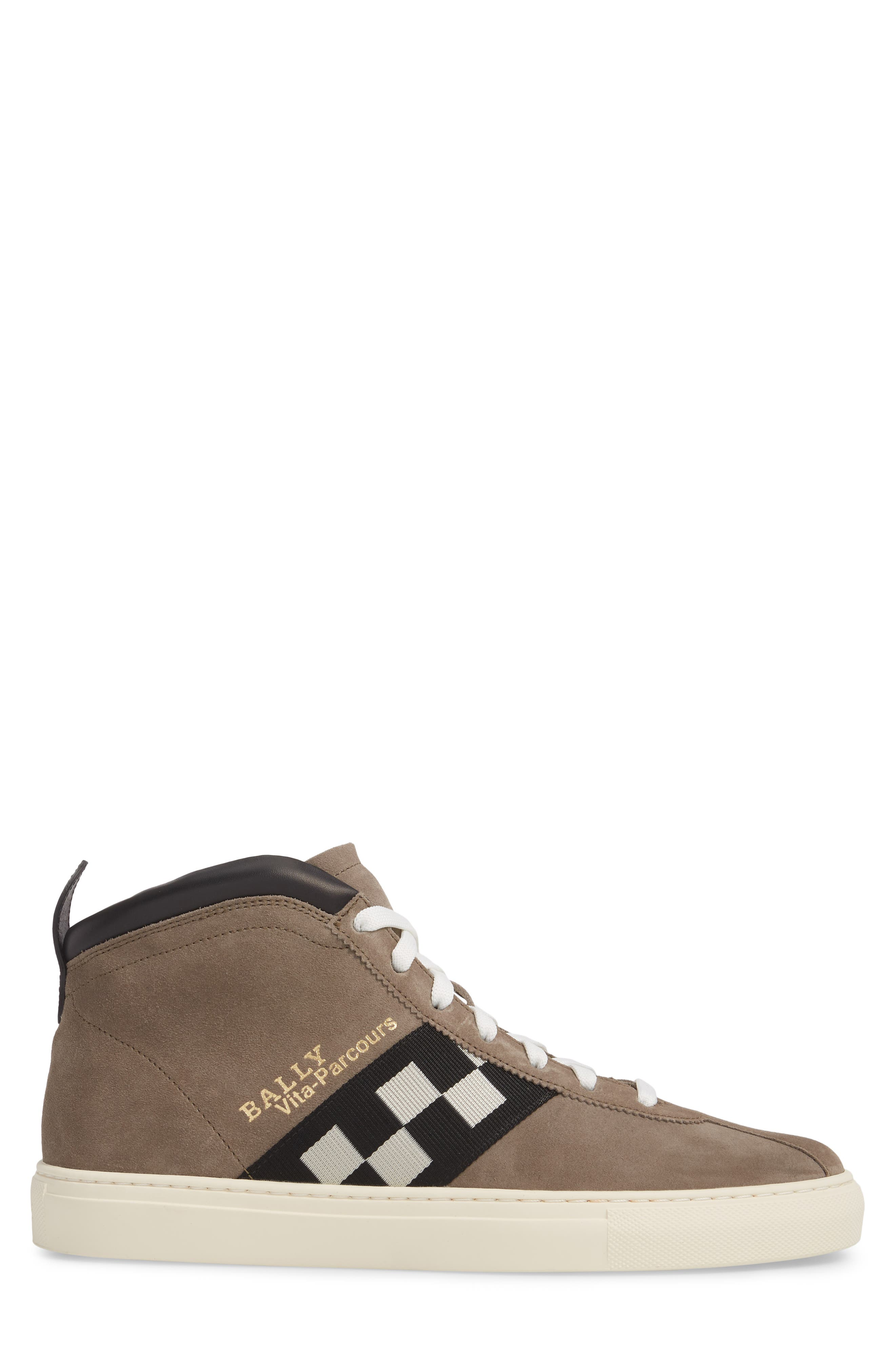 Vita Checkered High Top Sneaker,                             Alternate thumbnail 3, color,                             Snuff