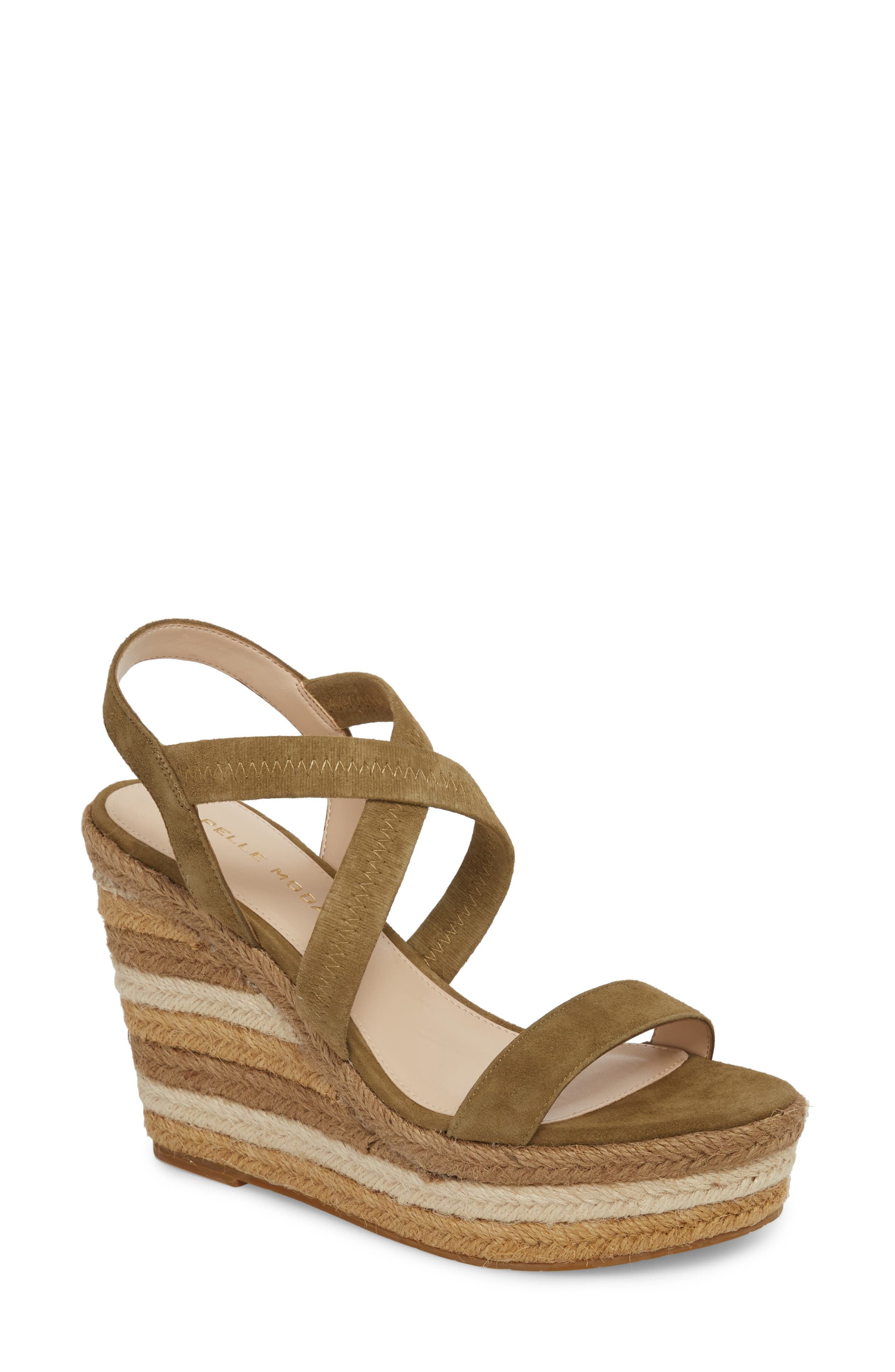 Pelle Moda Raia Espadrille Wedge Sandal (Women)