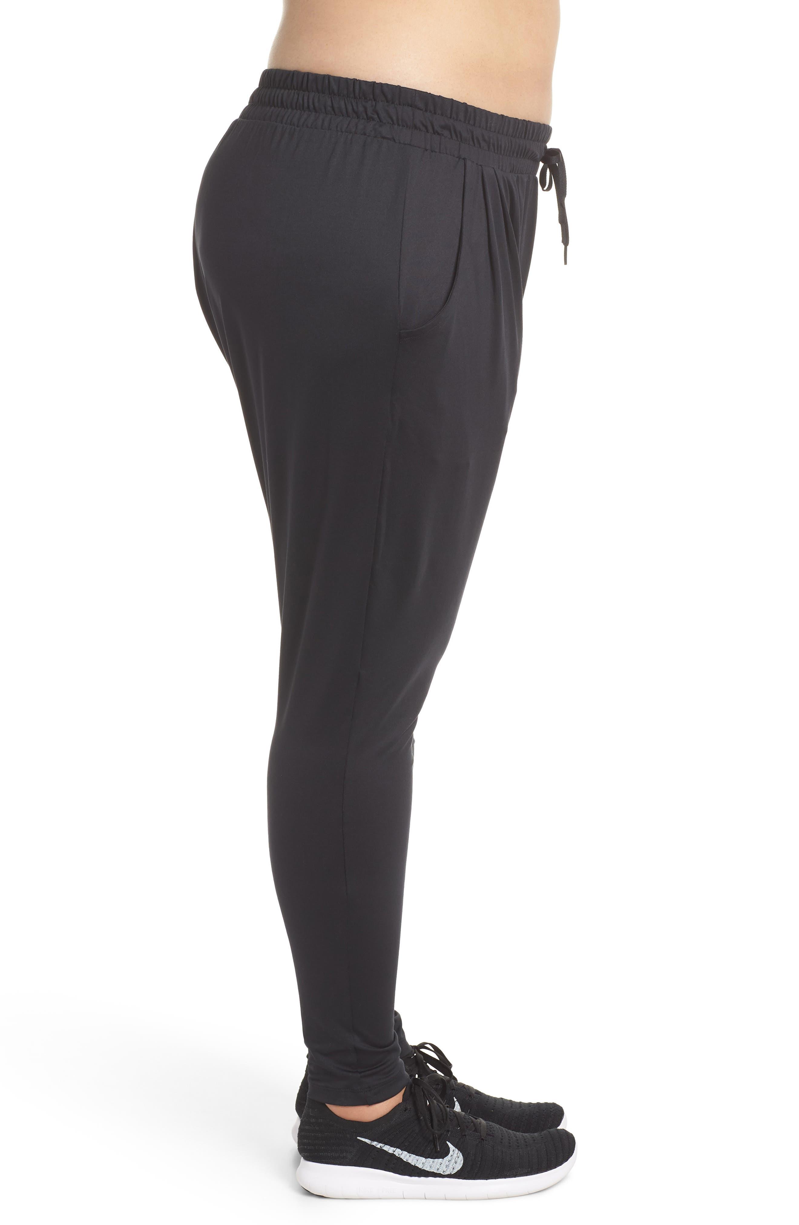 Dry Lux Flow Training Pants,                             Alternate thumbnail 3, color,                             Black/ Clear