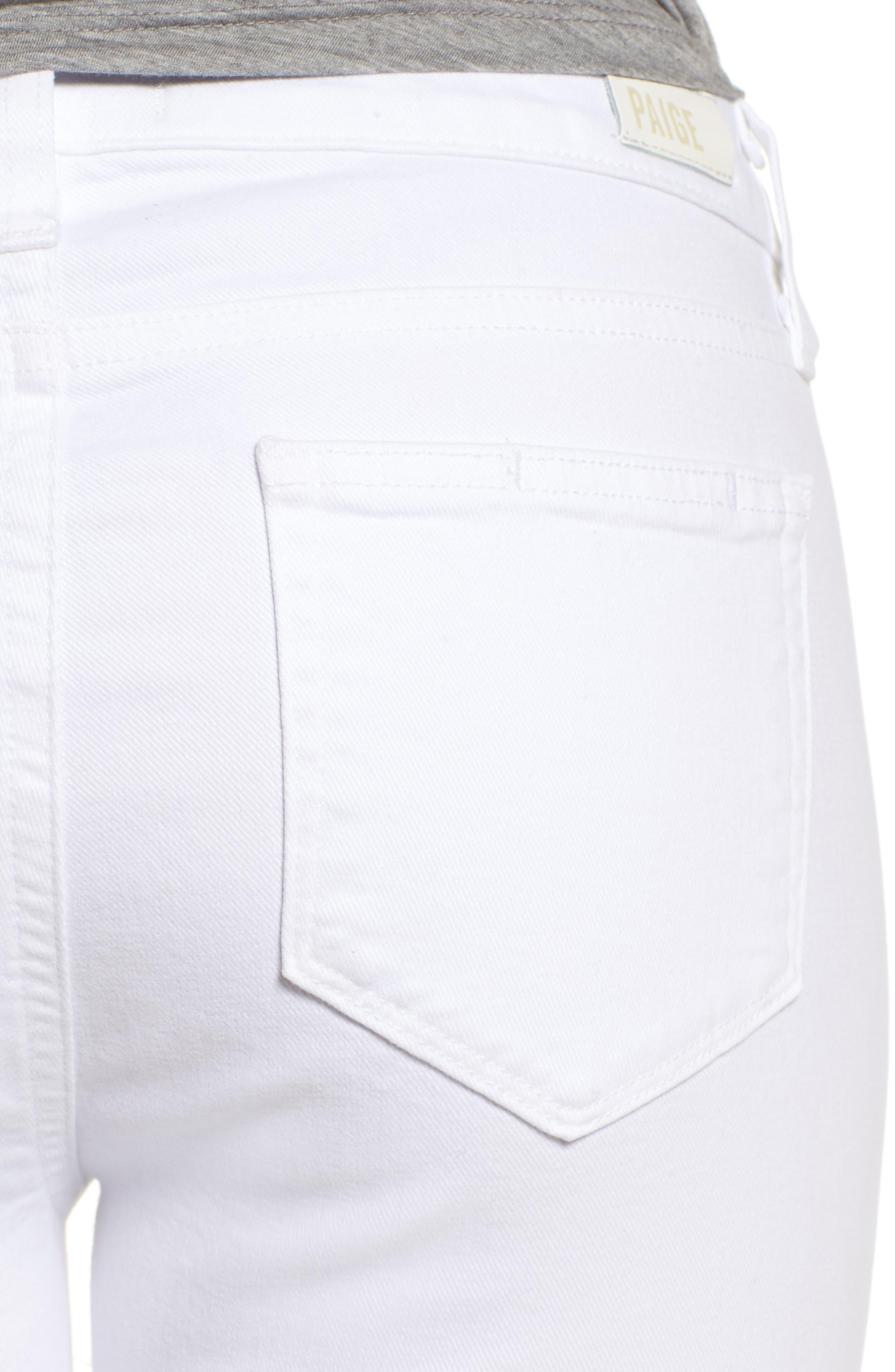 Skyline Ankle Peg Skinny Jeans,                             Alternate thumbnail 4, color,                             Crisp White