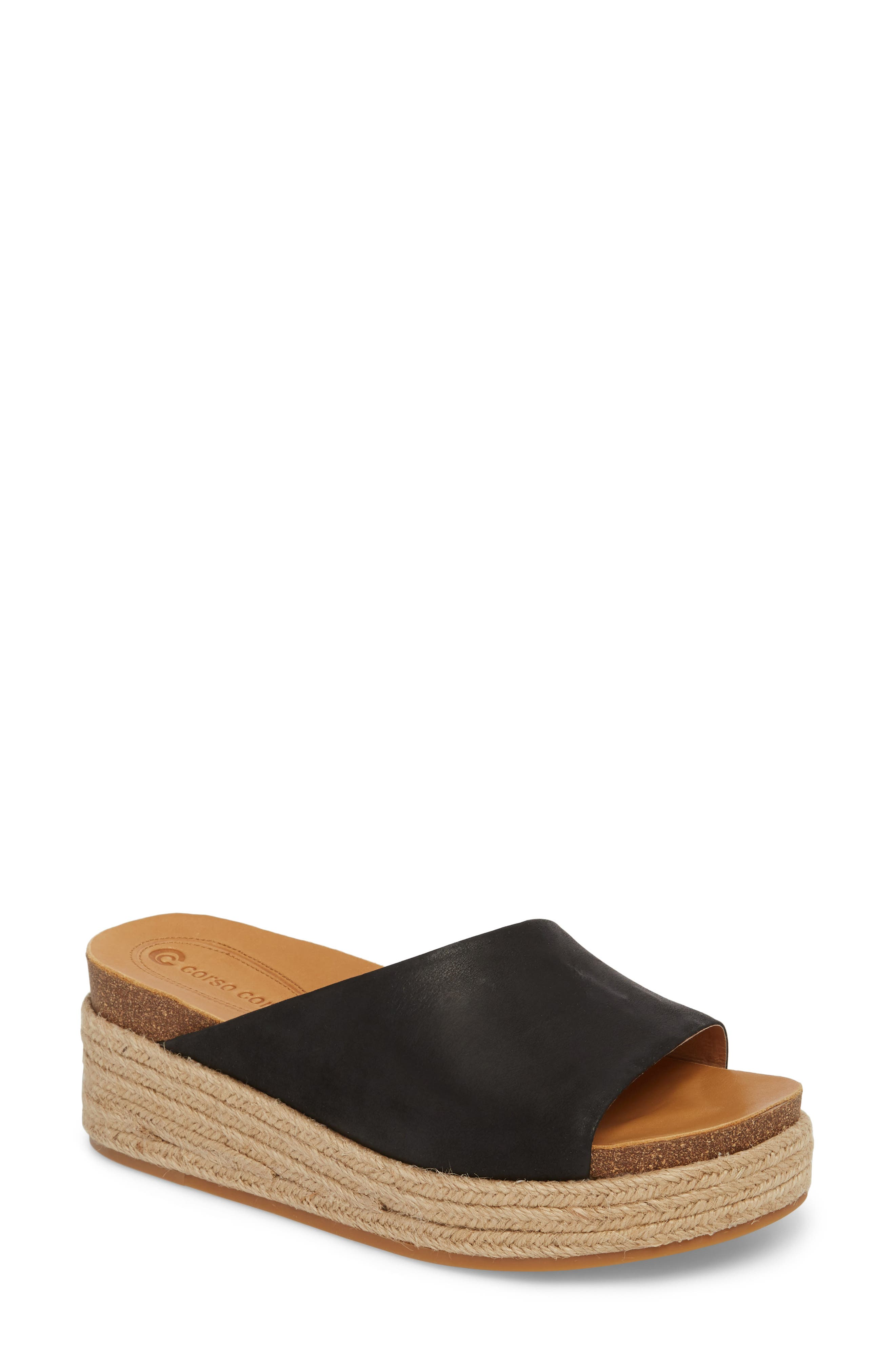 Candice Sandal,                         Main,                         color, Black Leather