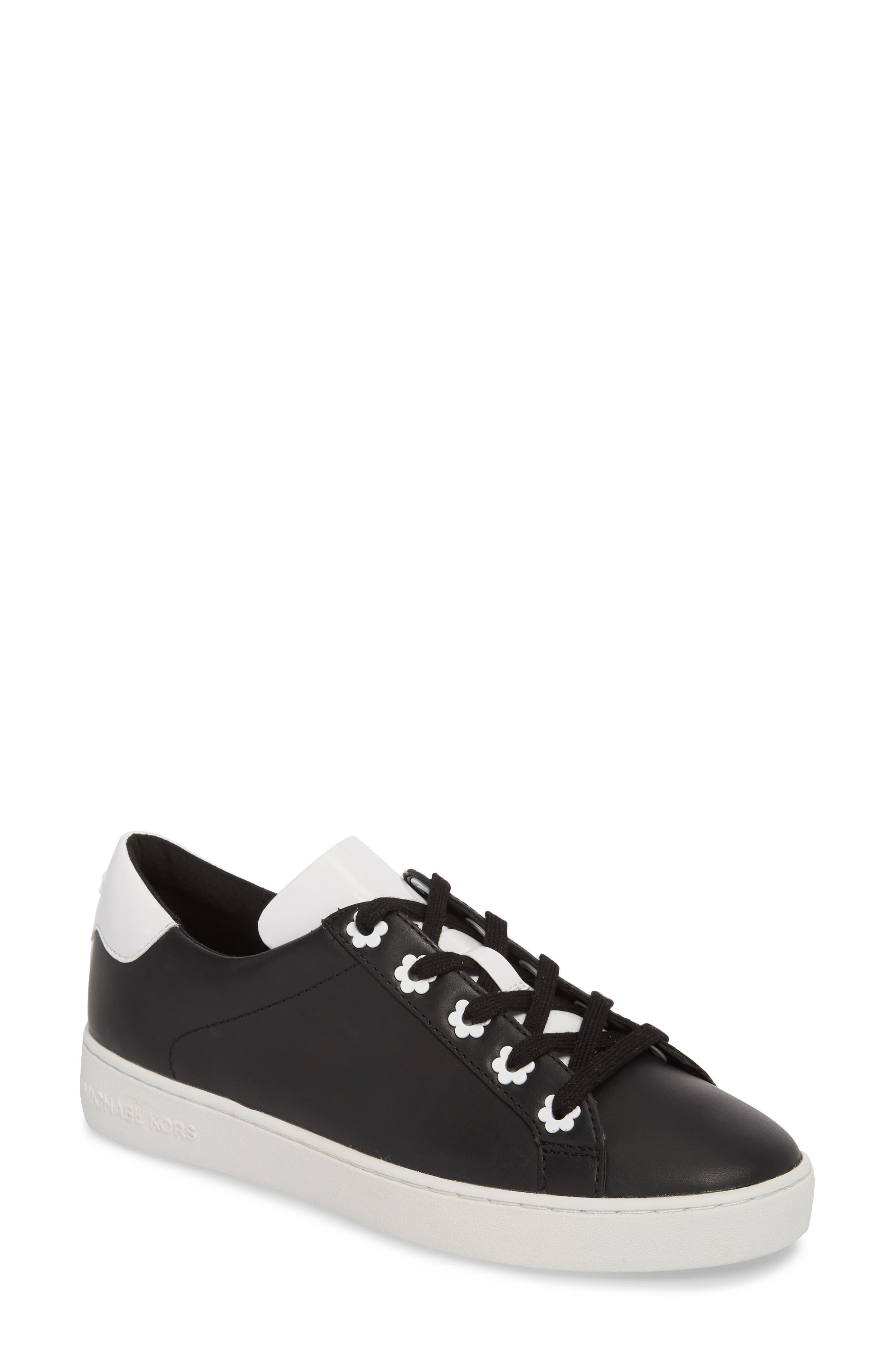 Irving Sneaker,                         Main,                         color, Black/ Optic White