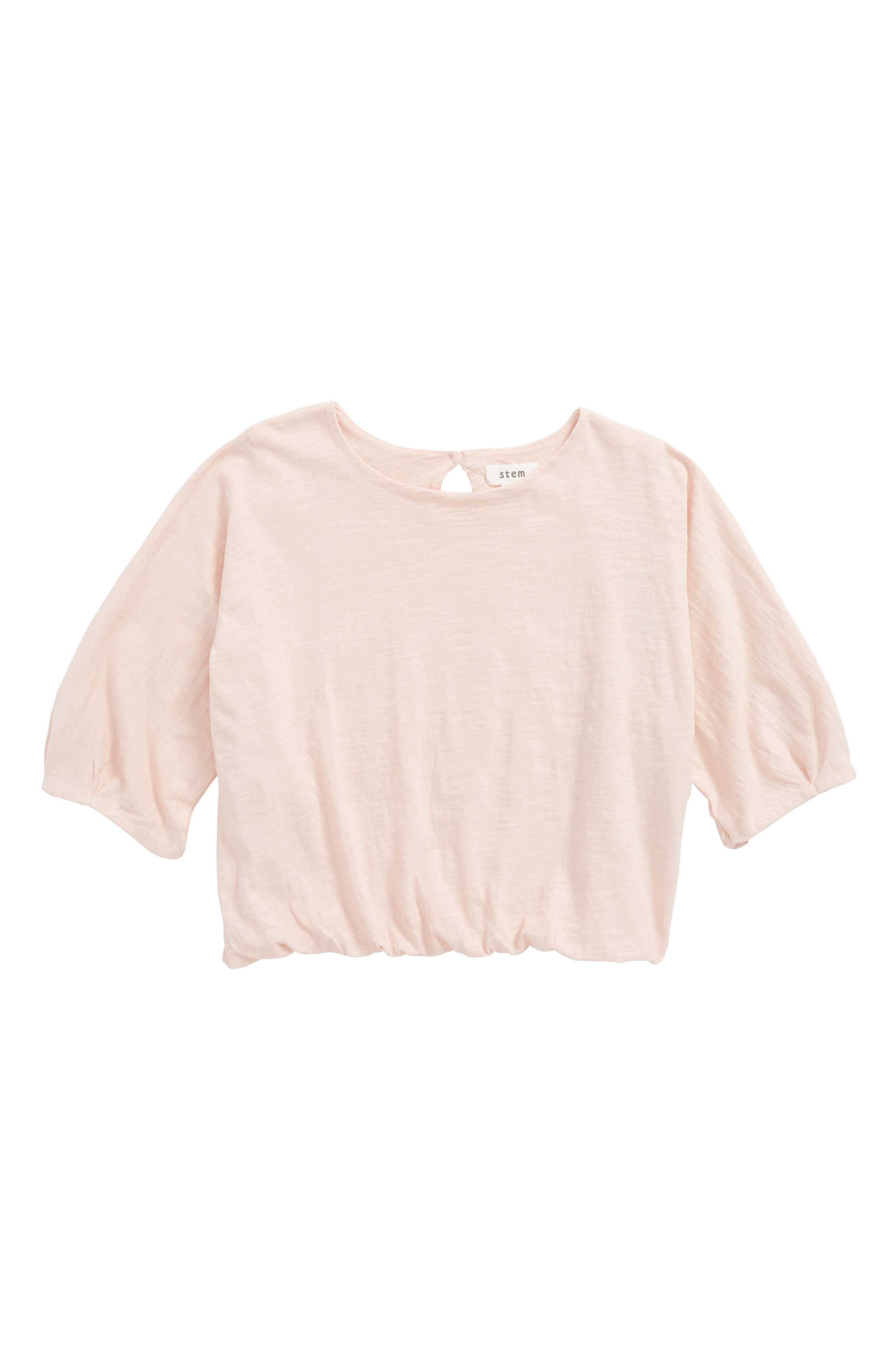 Gathered Hem Top,                         Main,                         color, Pink Smoke