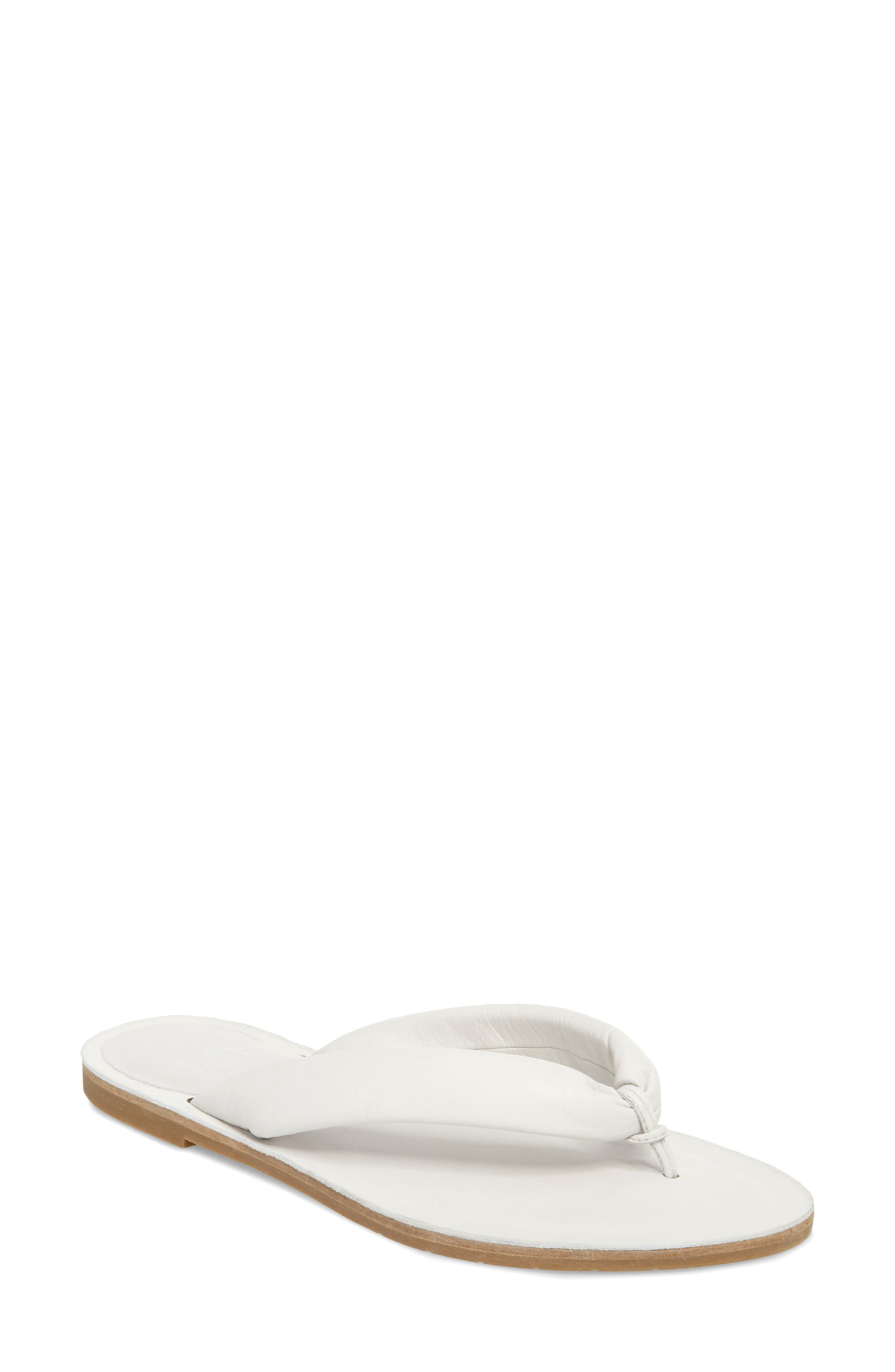 e58ffb1f6eb EILEEN FISHER Flue Flat Washed Leather Thong Sandal