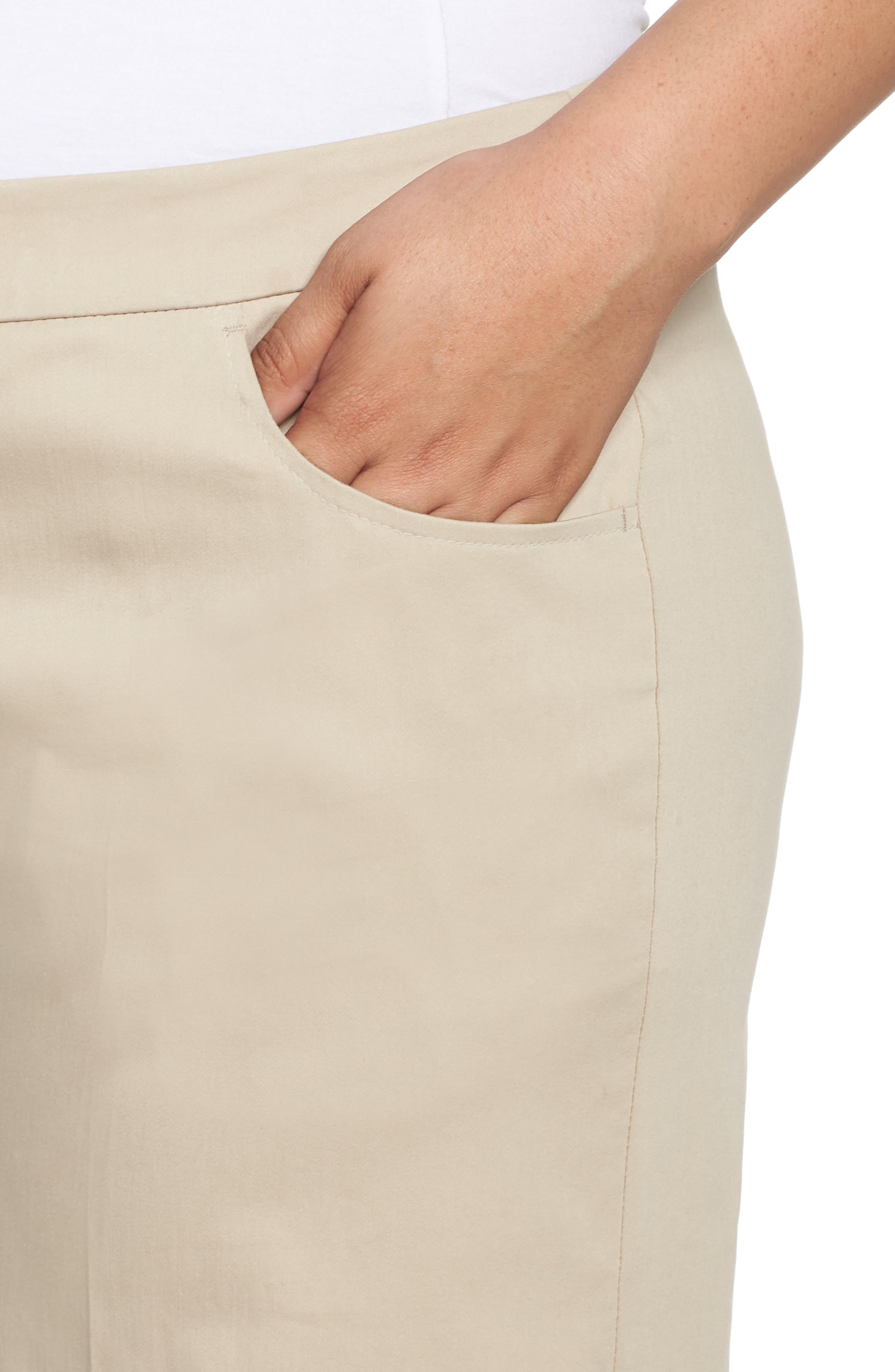 Crop Pants,                             Alternate thumbnail 4, color,                             Dark Beige