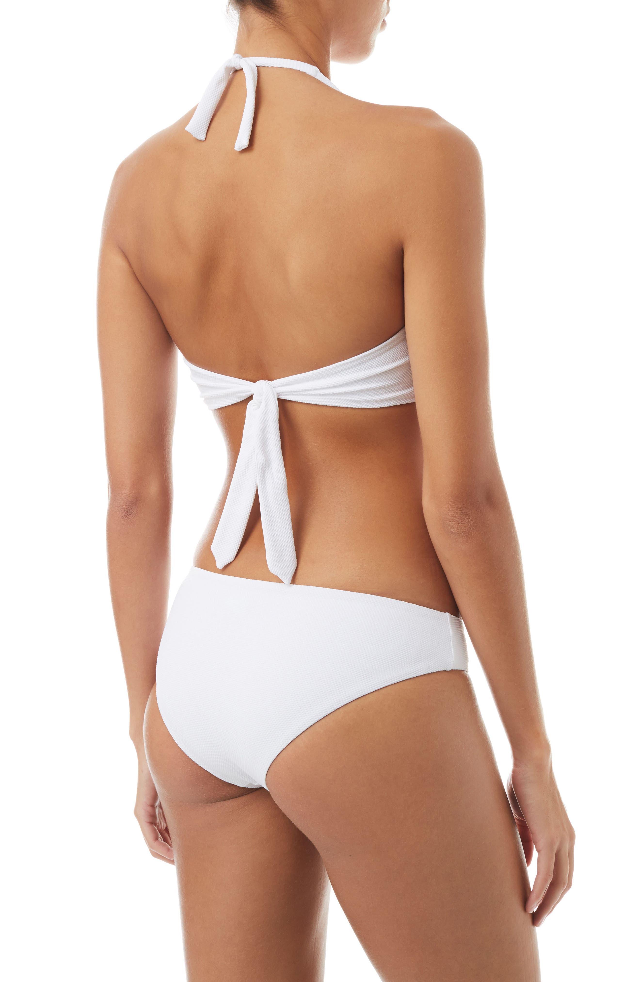 Africa Bikini Bottoms,                             Alternate thumbnail 4, color,                             Pique White