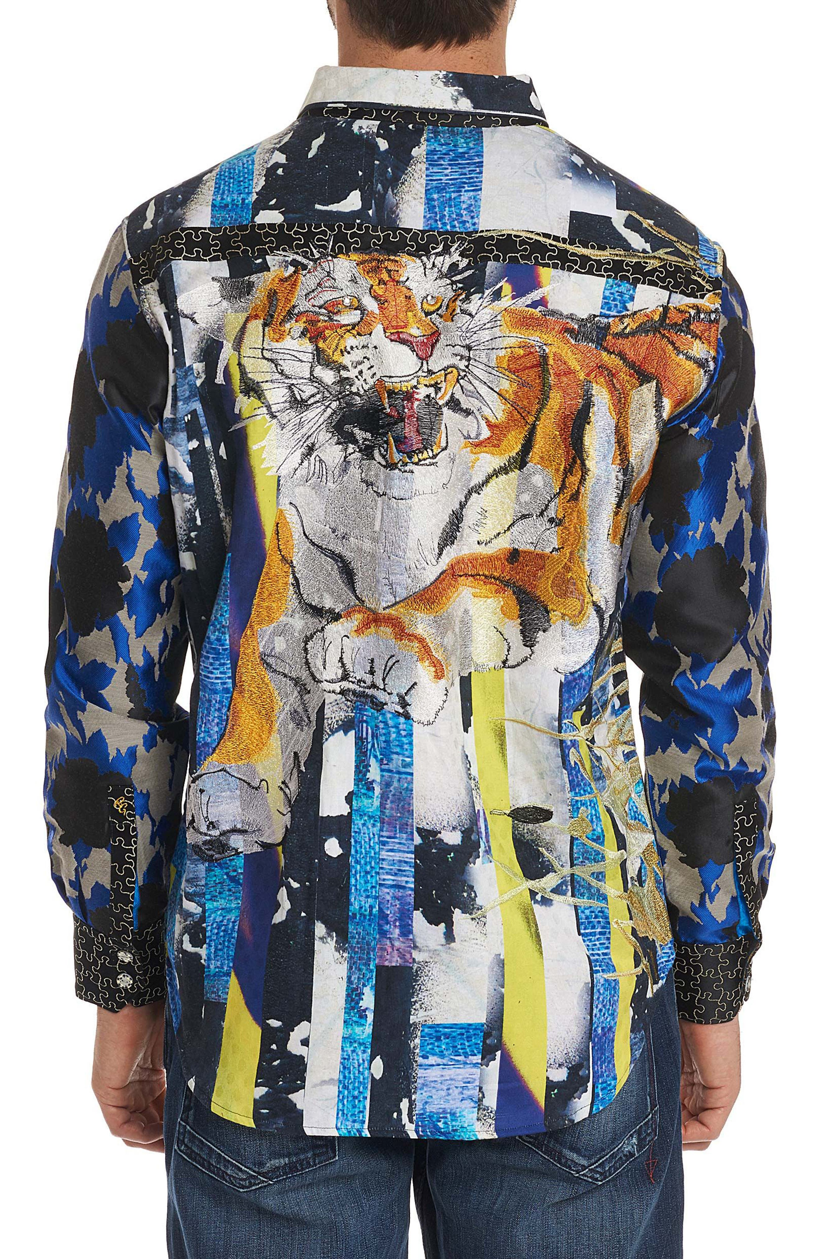 Fear the Tiger Limited Edition Sport Shirt,                             Alternate thumbnail 2, color,                             Multi