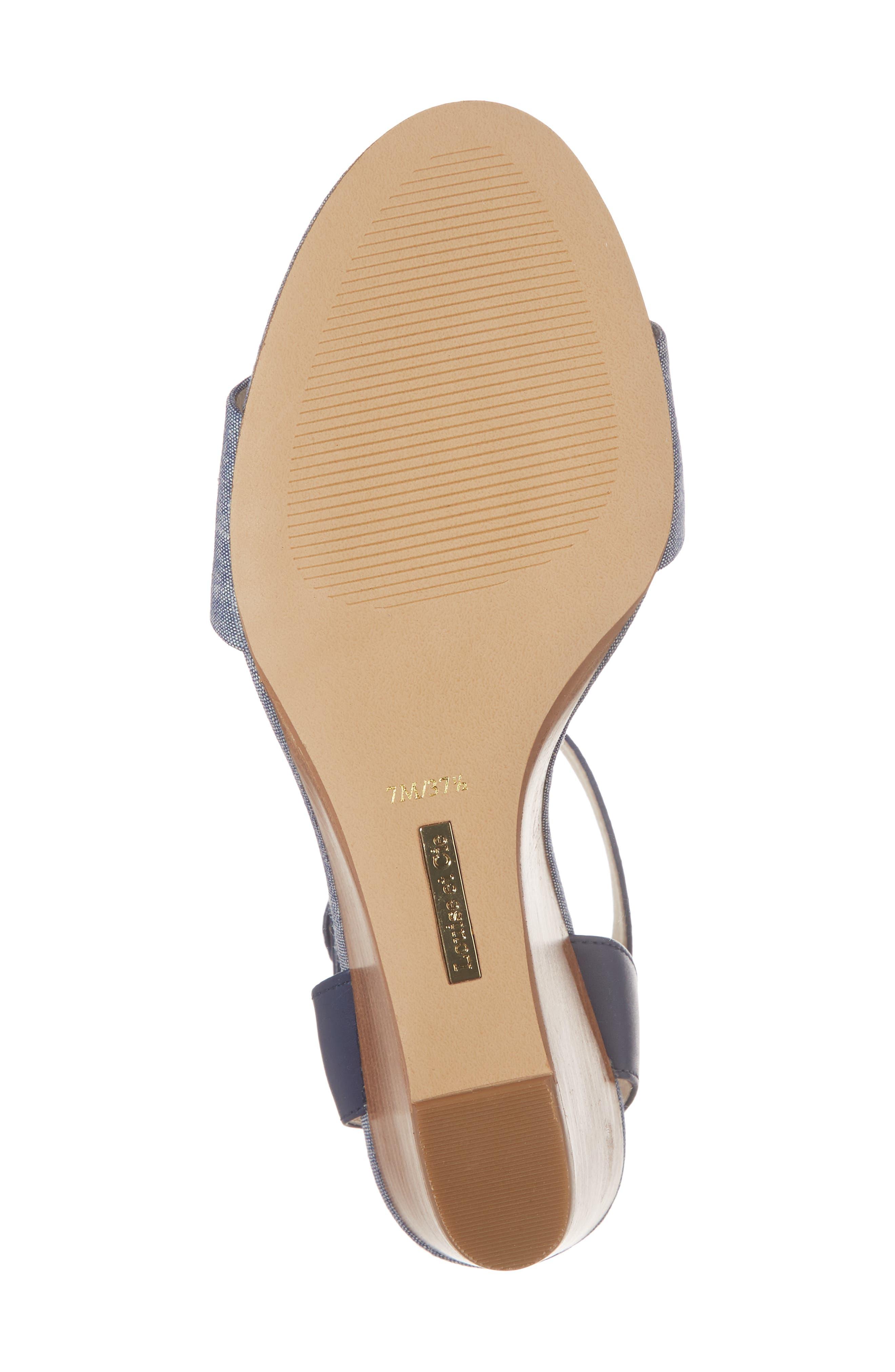 Punya Wedge Sandal,                             Alternate thumbnail 6, color,                             Denim Fabric