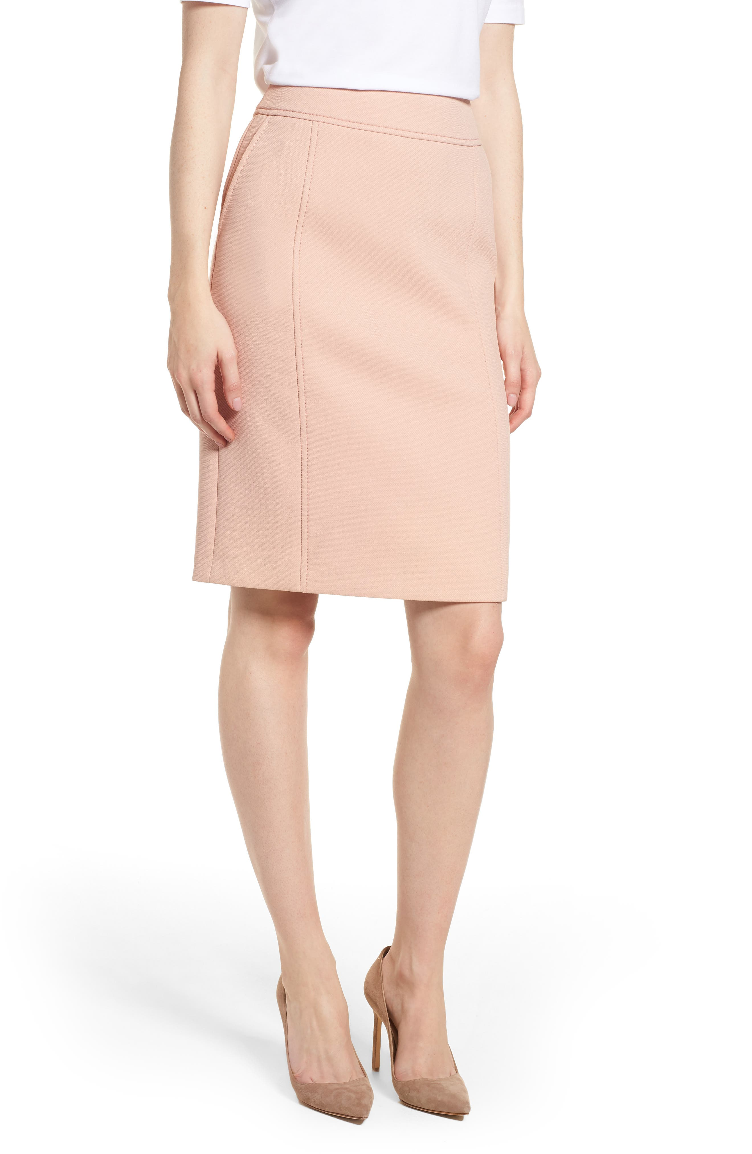 BOSS Vuleama Compact Twill Pencil Skirt