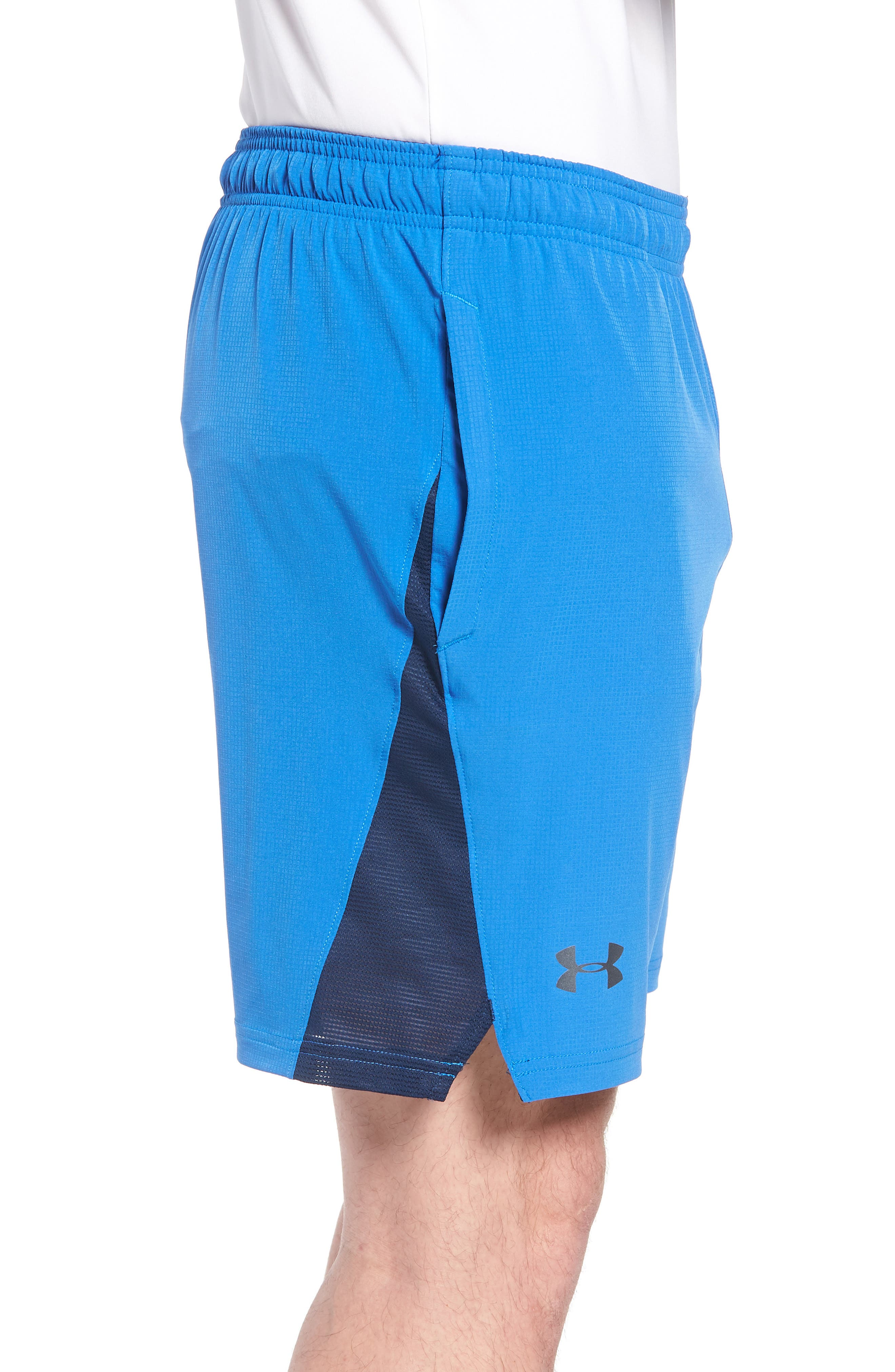 Regular Fit Cage Shorts,                             Alternate thumbnail 3, color,                             Mediterranean/ Graphite